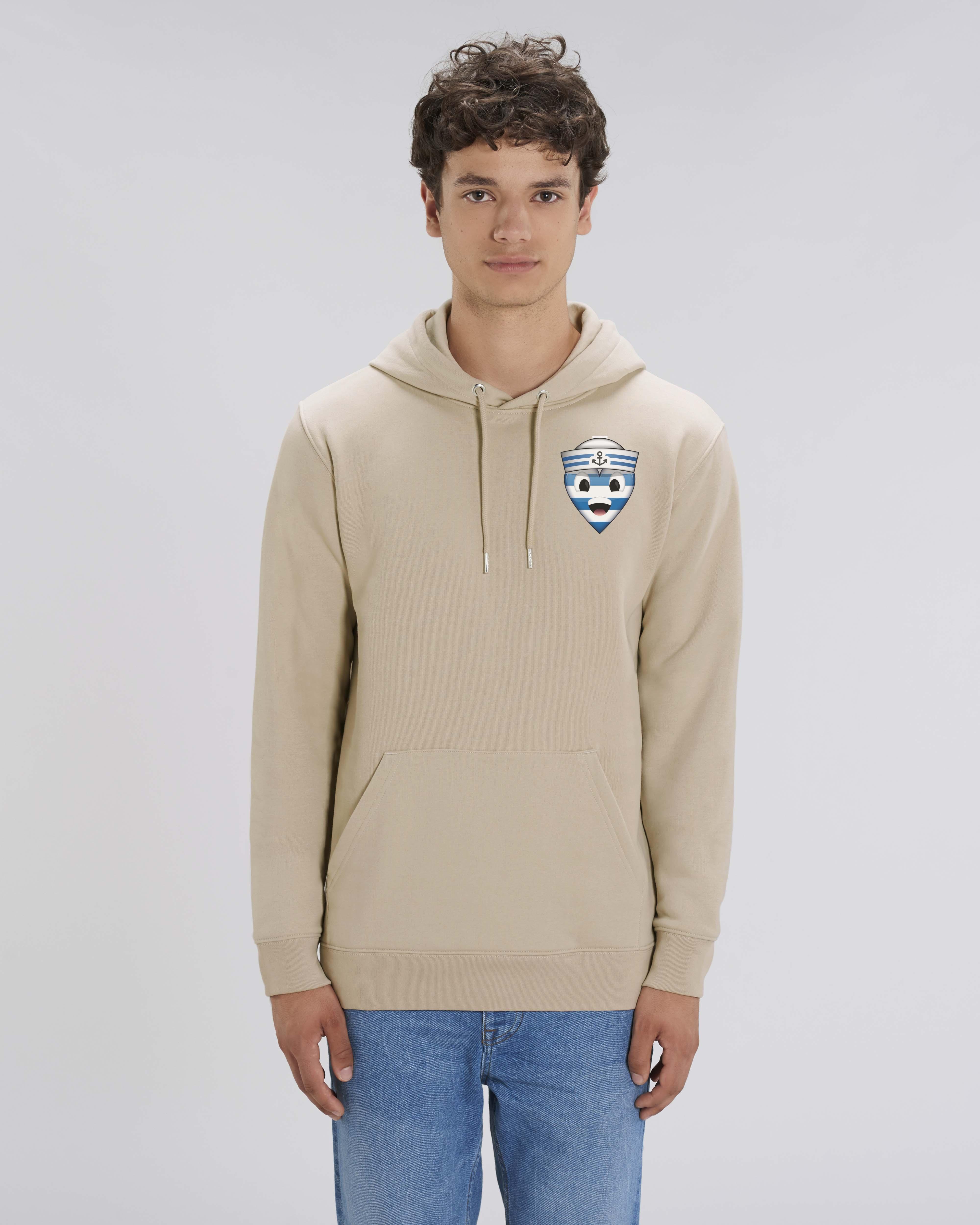 Sweat shirt à Capuche beige homme - navy hoodie