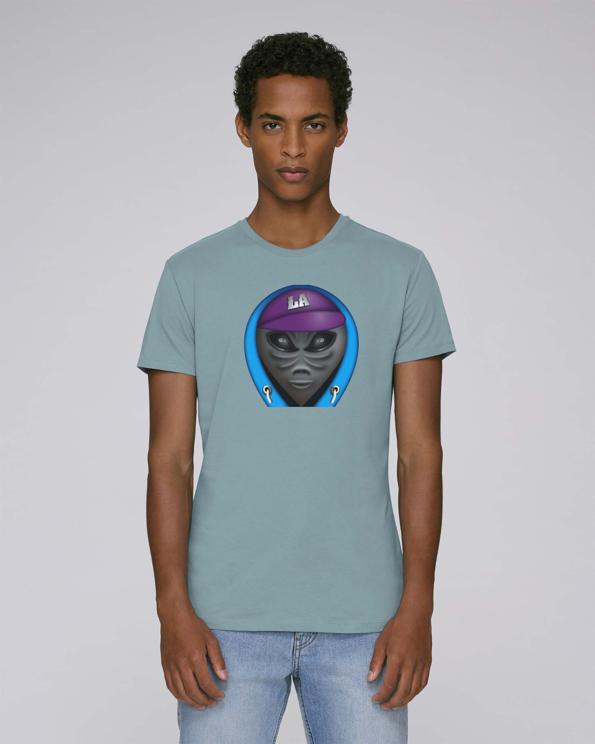 T-Shirt Bio Vert Clair Homme - Ovni tee