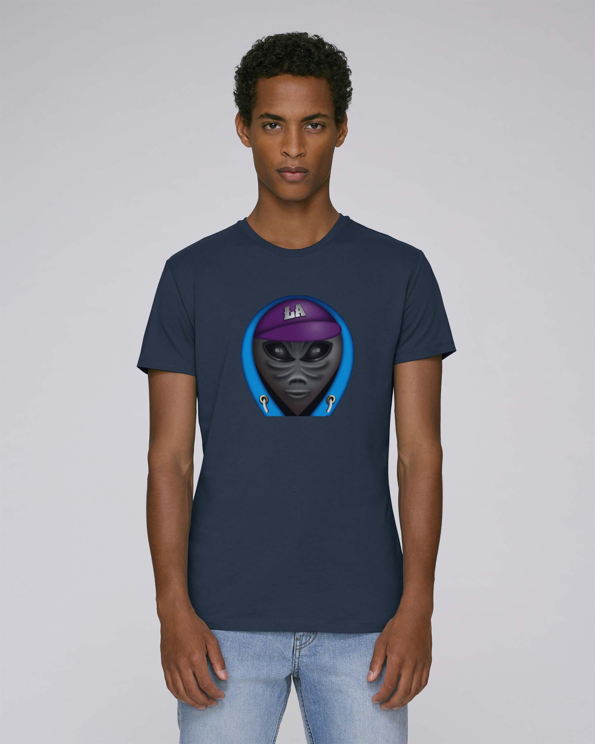 T-Shirt Bio Bleu foncé Homme - Ovni tee