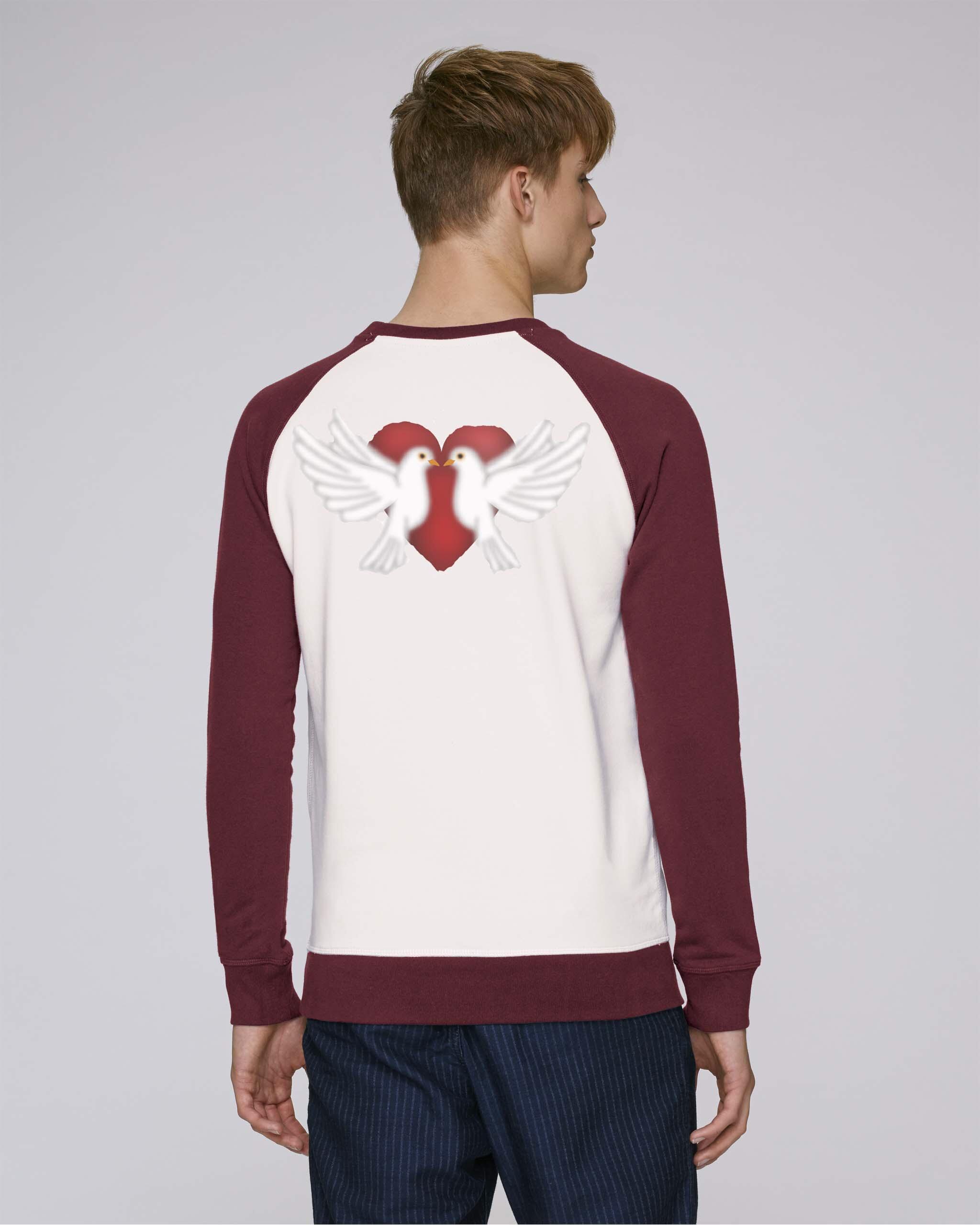 T-Shirt Bio Homme manche longue bordeaux - peace tee