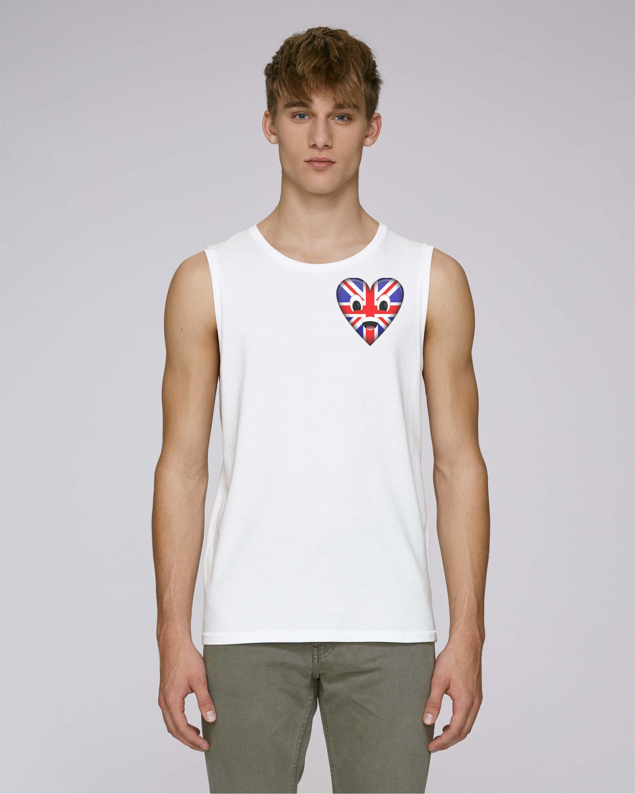 T-shirt bio blanc manche courte homme - uk tee
