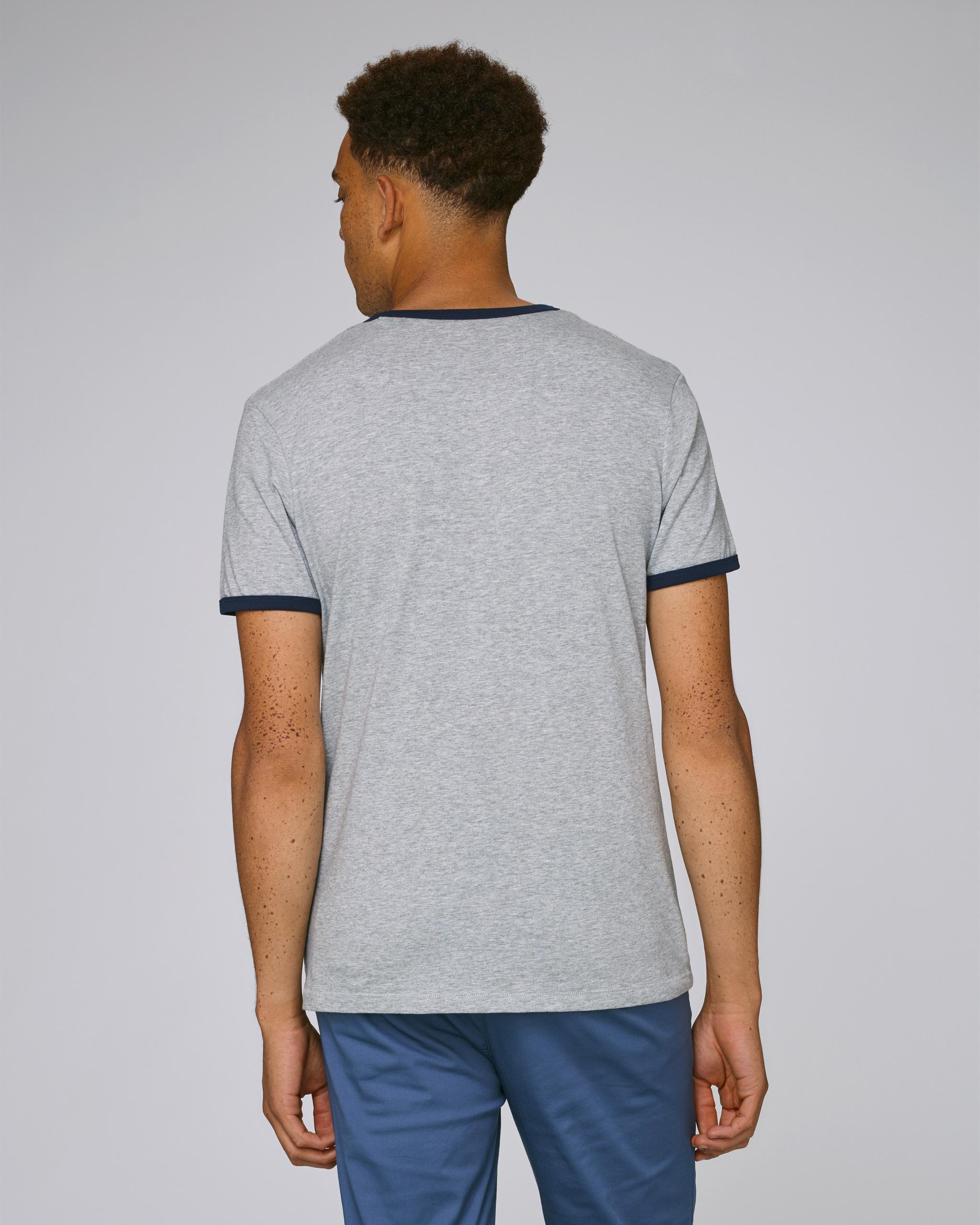 T-Shirt Bio gris Homme dos - Obama tee