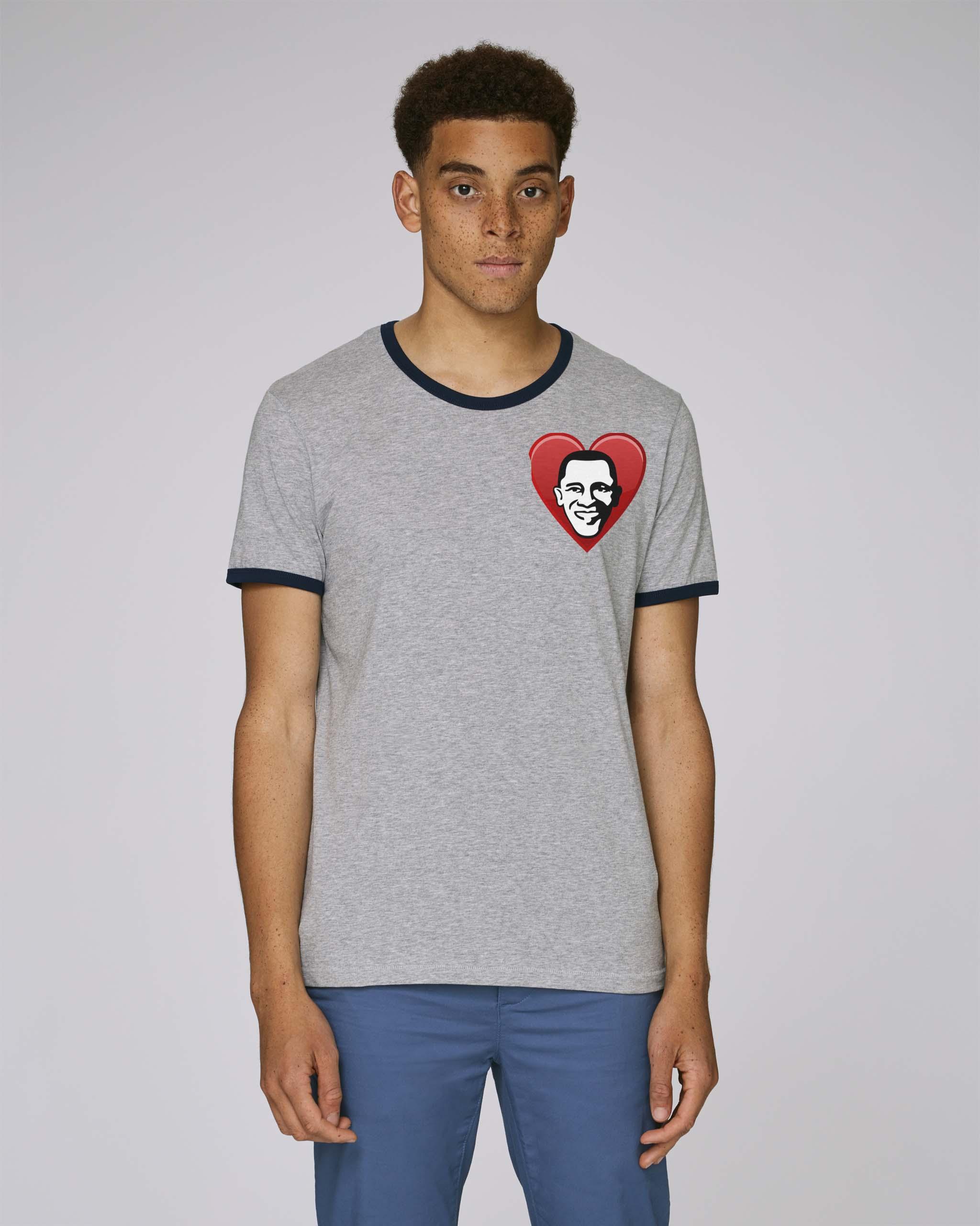T-Shirt Bio gris Homme - Obama tee