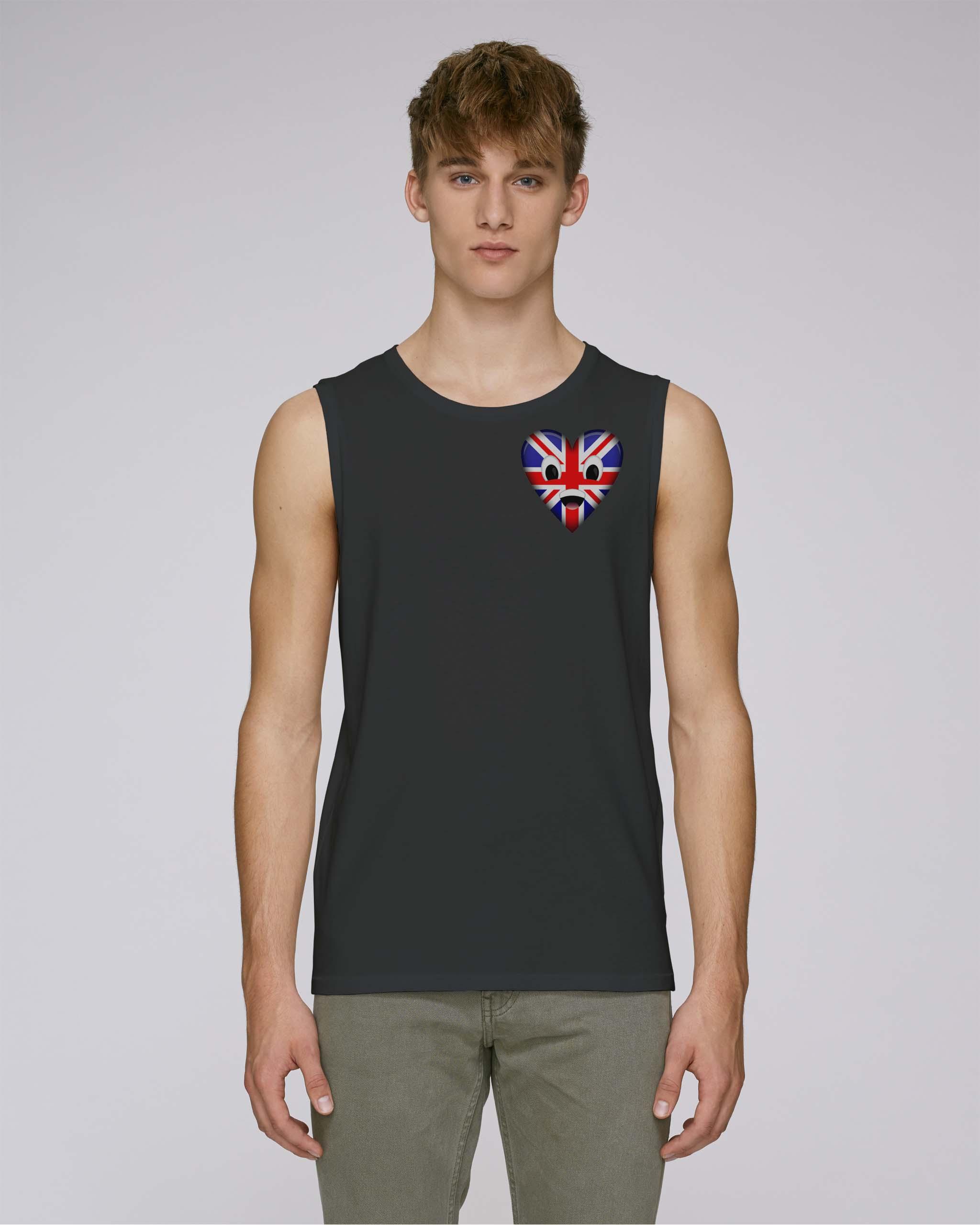 T-shirt bio noir manche courte homme - uk tee