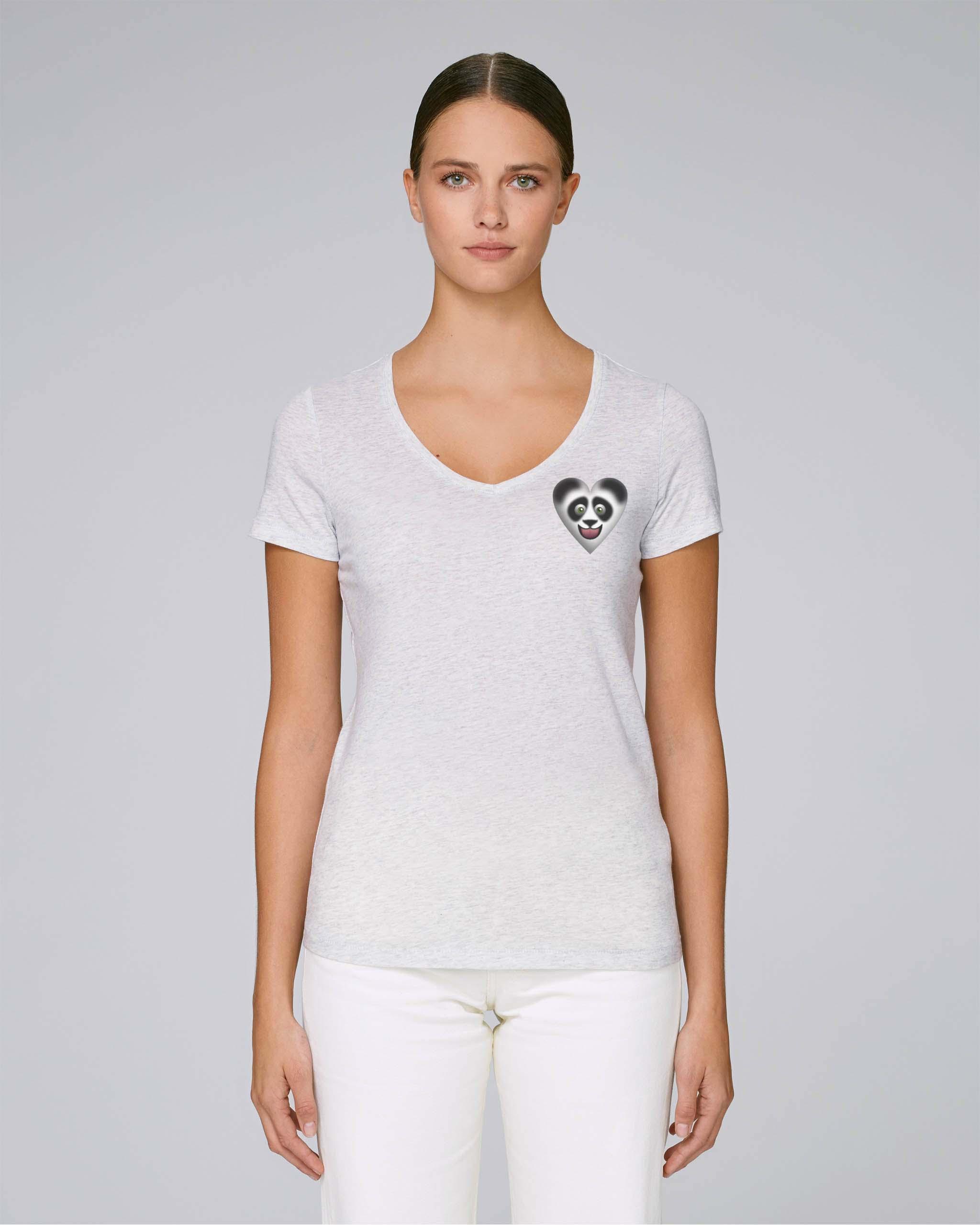 T-Shirt Bio blanc 2 Femme – Panda tee
