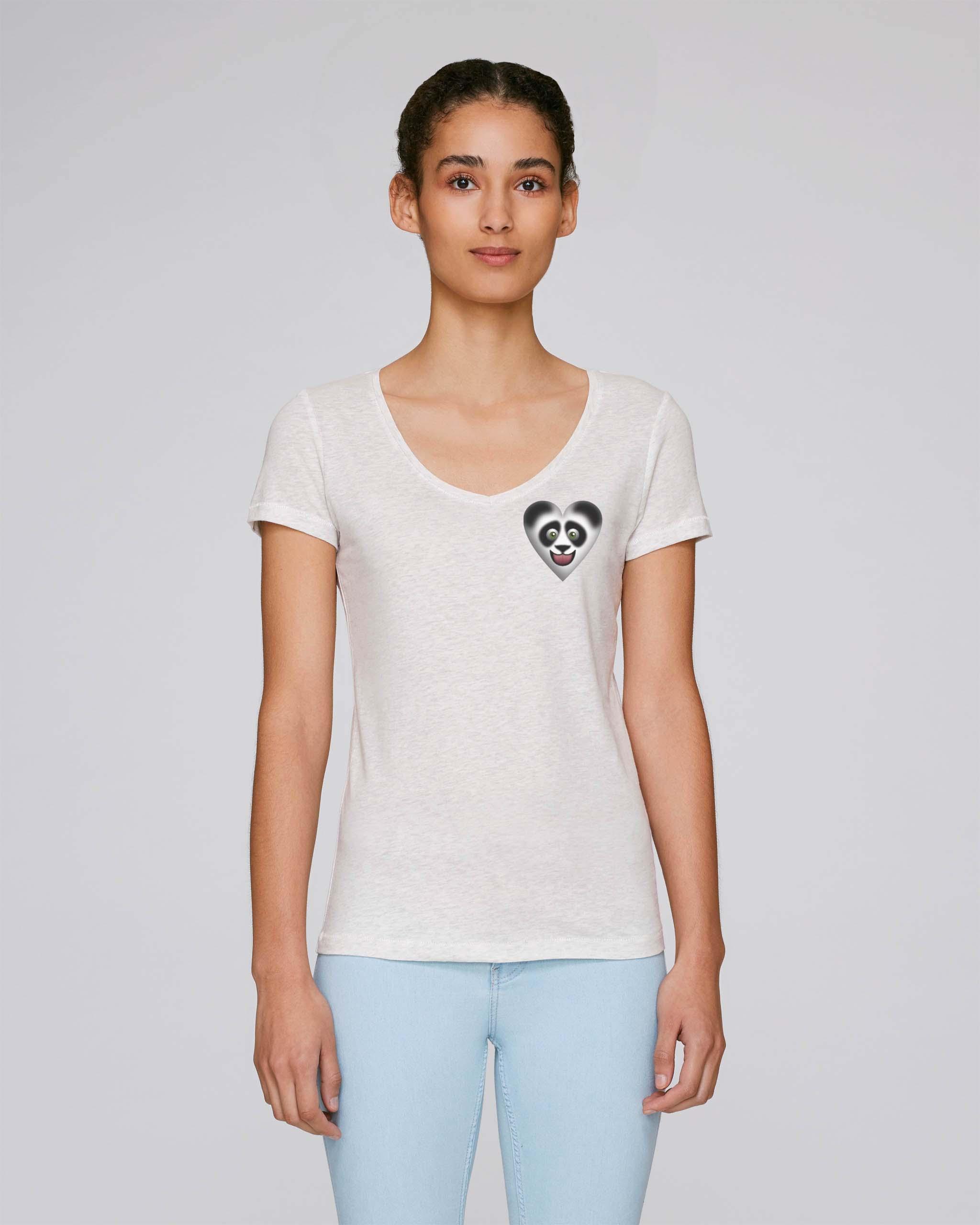 T-Shirt Bio blanc Femme – Panda tee