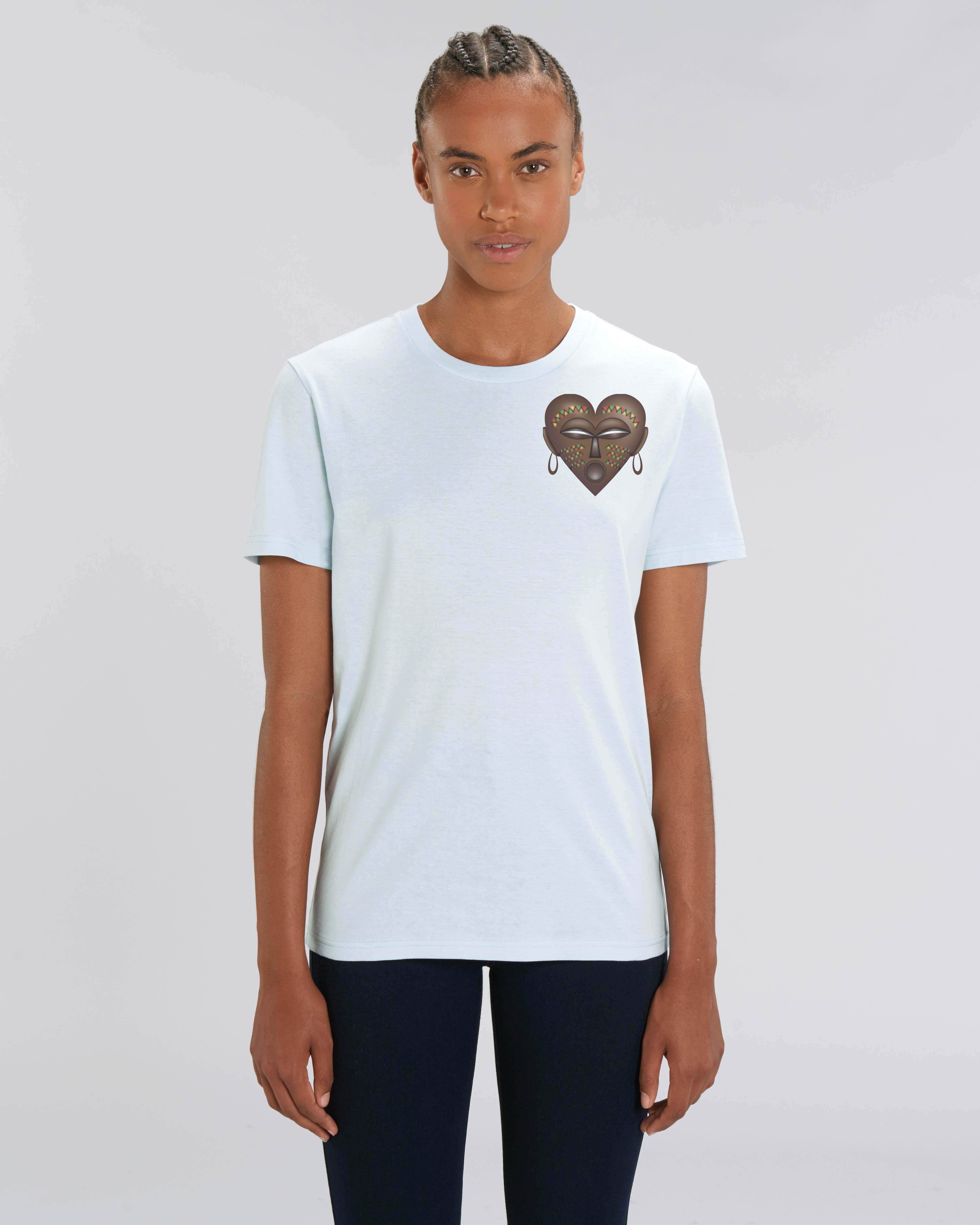 T-Shirt Bio bleu glacier Femme - African tee