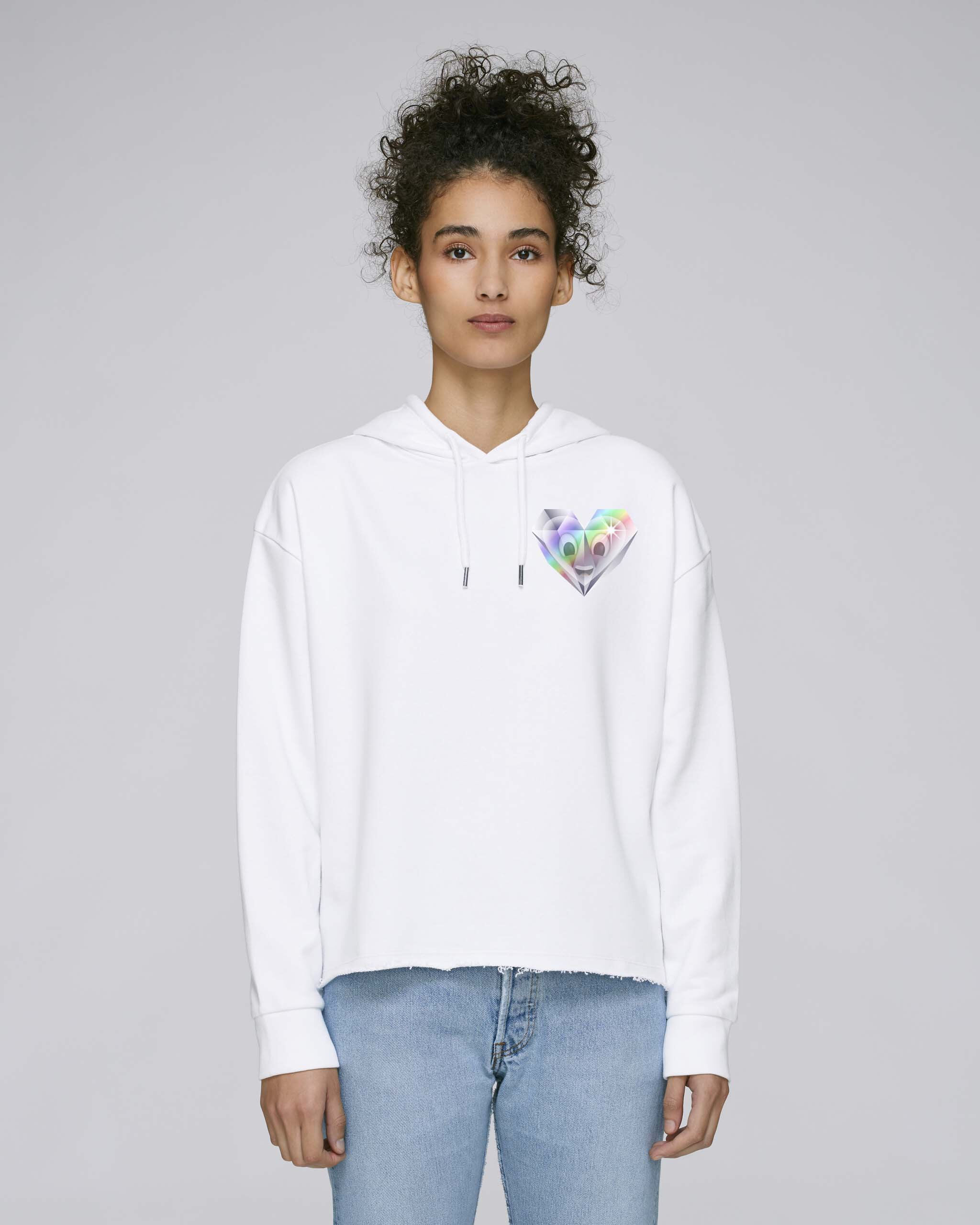 Sweat-Shirt Bio blanc Femme - Diamond sweat