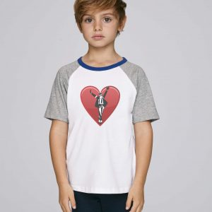 T-Shirt Bio blanc et gris Enfant garçon - MJ tee - Michael Jackson