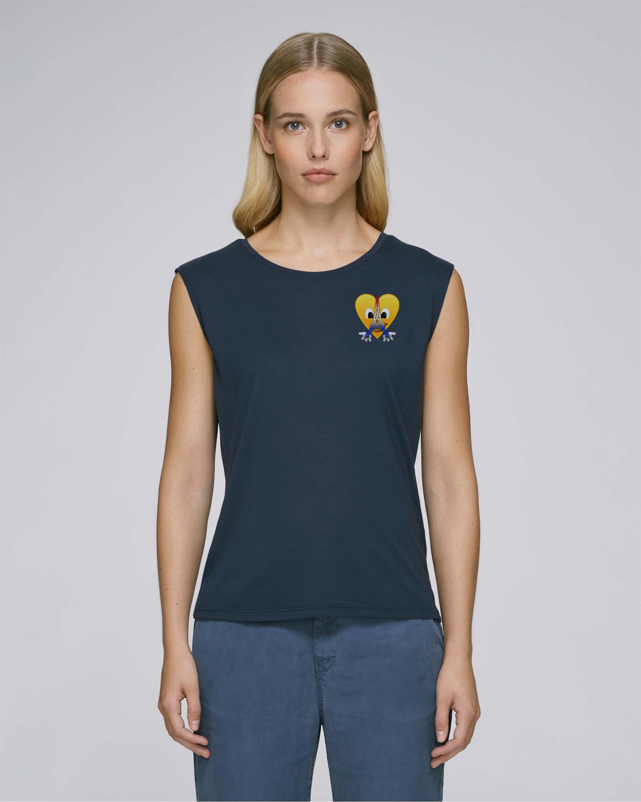 T-Shirt Bio bleu marine Femme – Eiffel tee