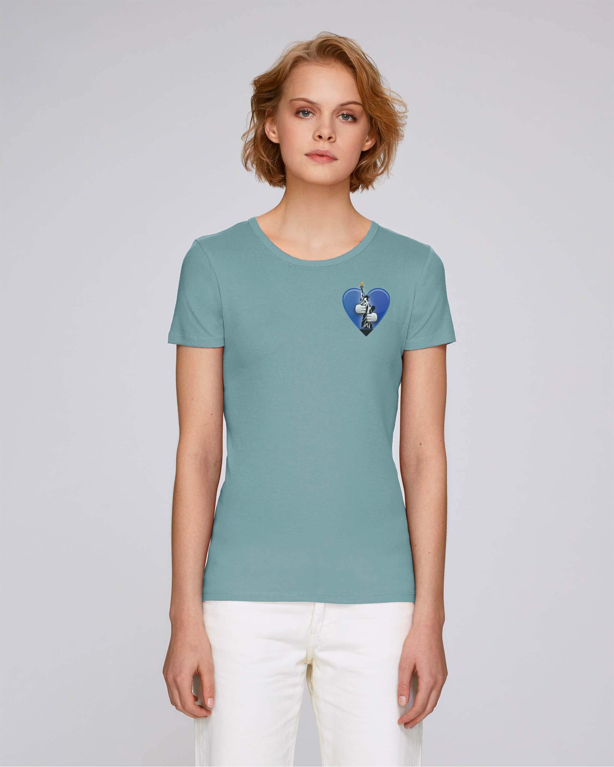 T-Shirt Bio bleu clair Femme – New york tee
