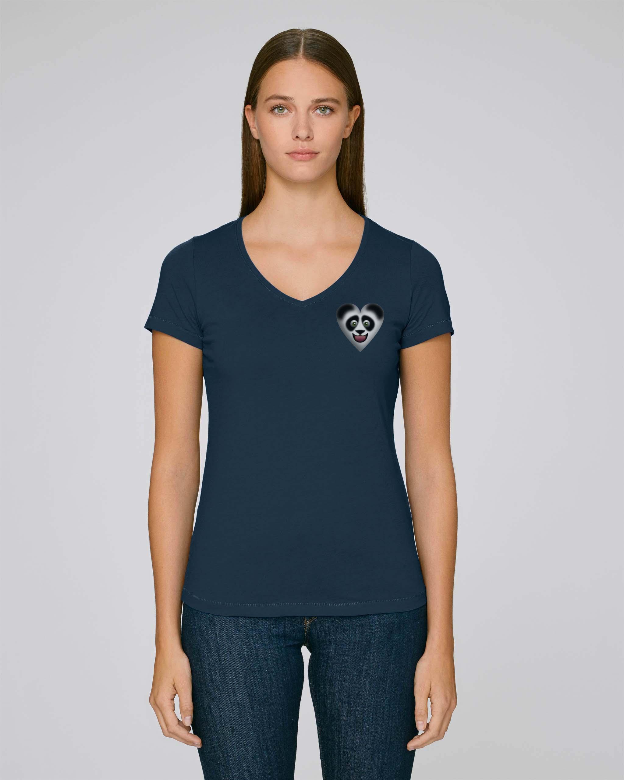 T-Shirt Bio bleu marine fonce Femme – Panda tee