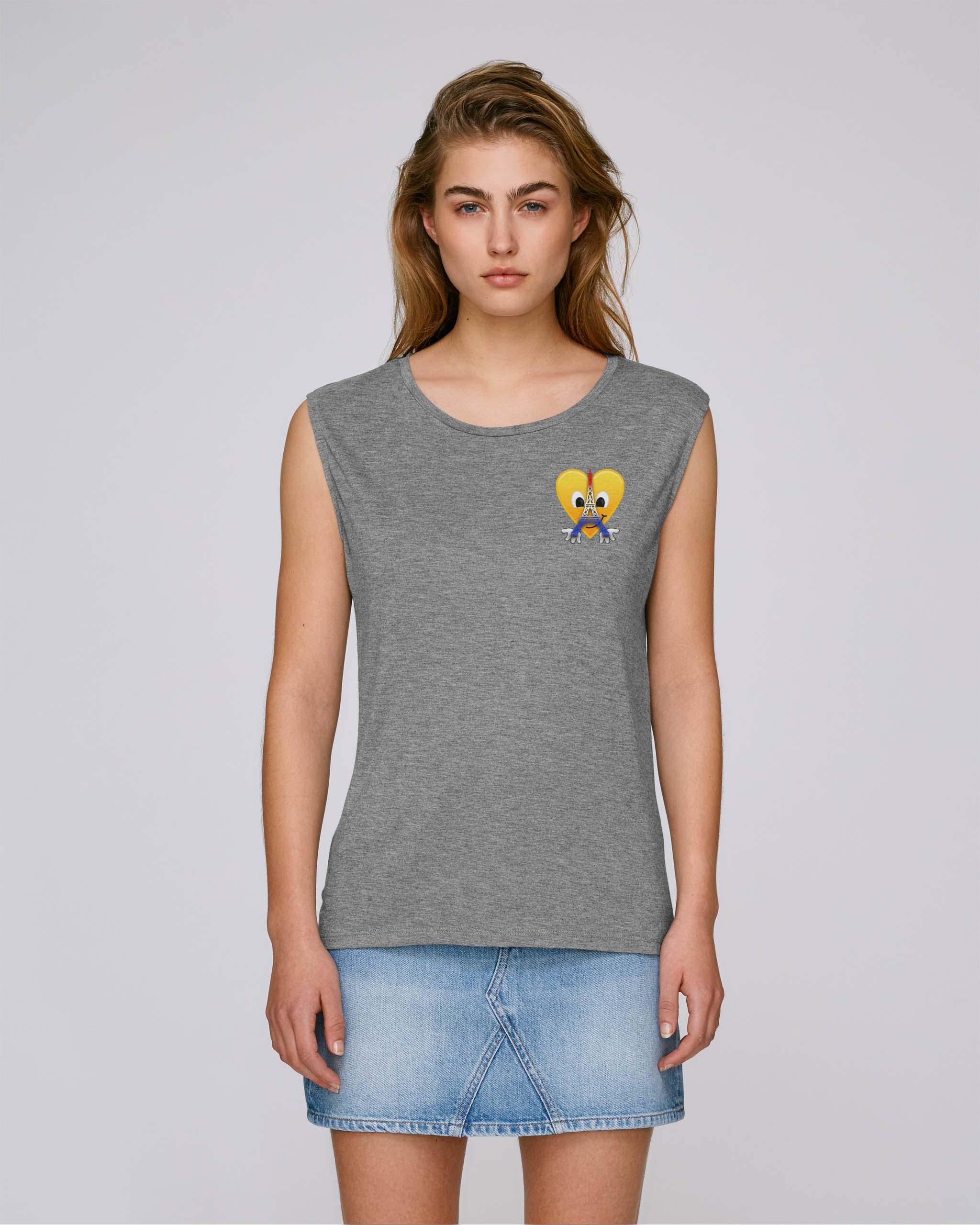 T-Shirt Bio gris chiné Femme – Eiffel tee