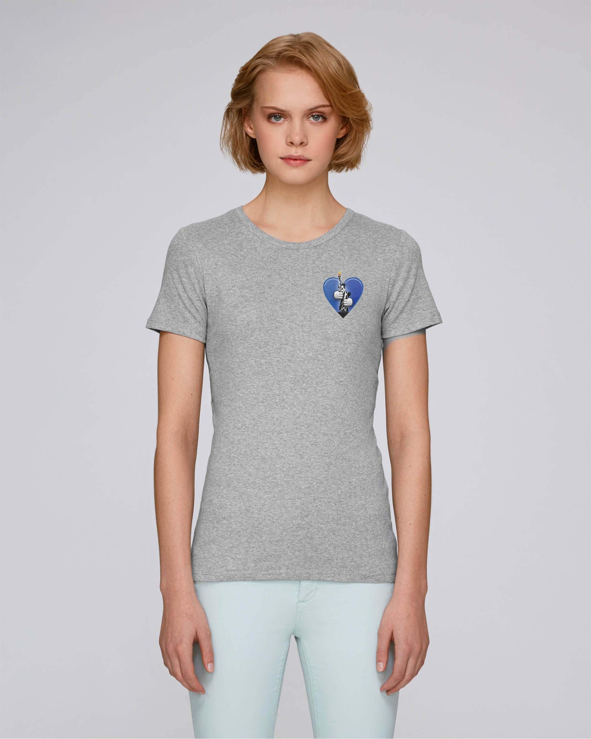 T-Shirt Bio gris Femme – New york tee