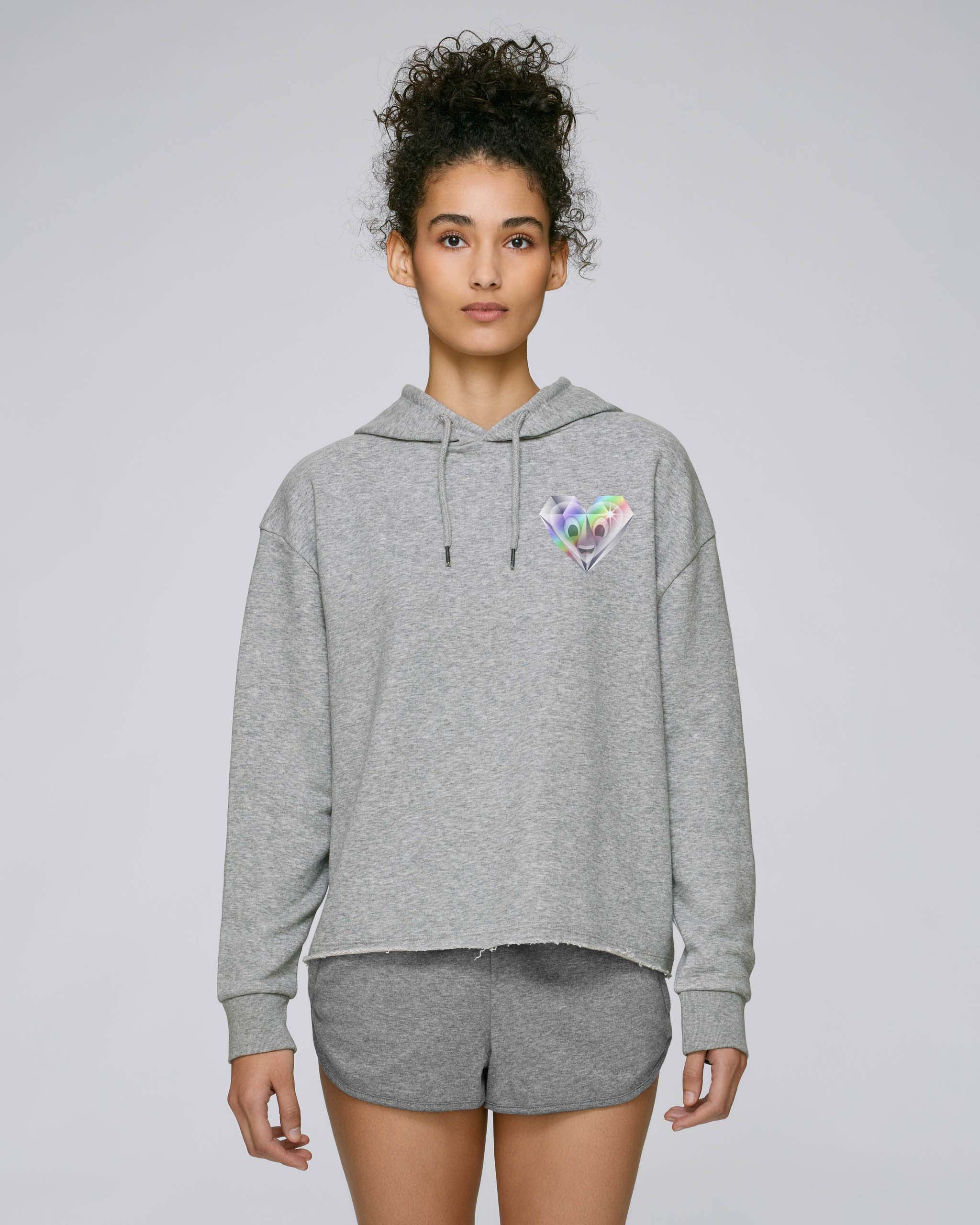 Sweat-Shirt Bio gris Femme - Diamond sweat