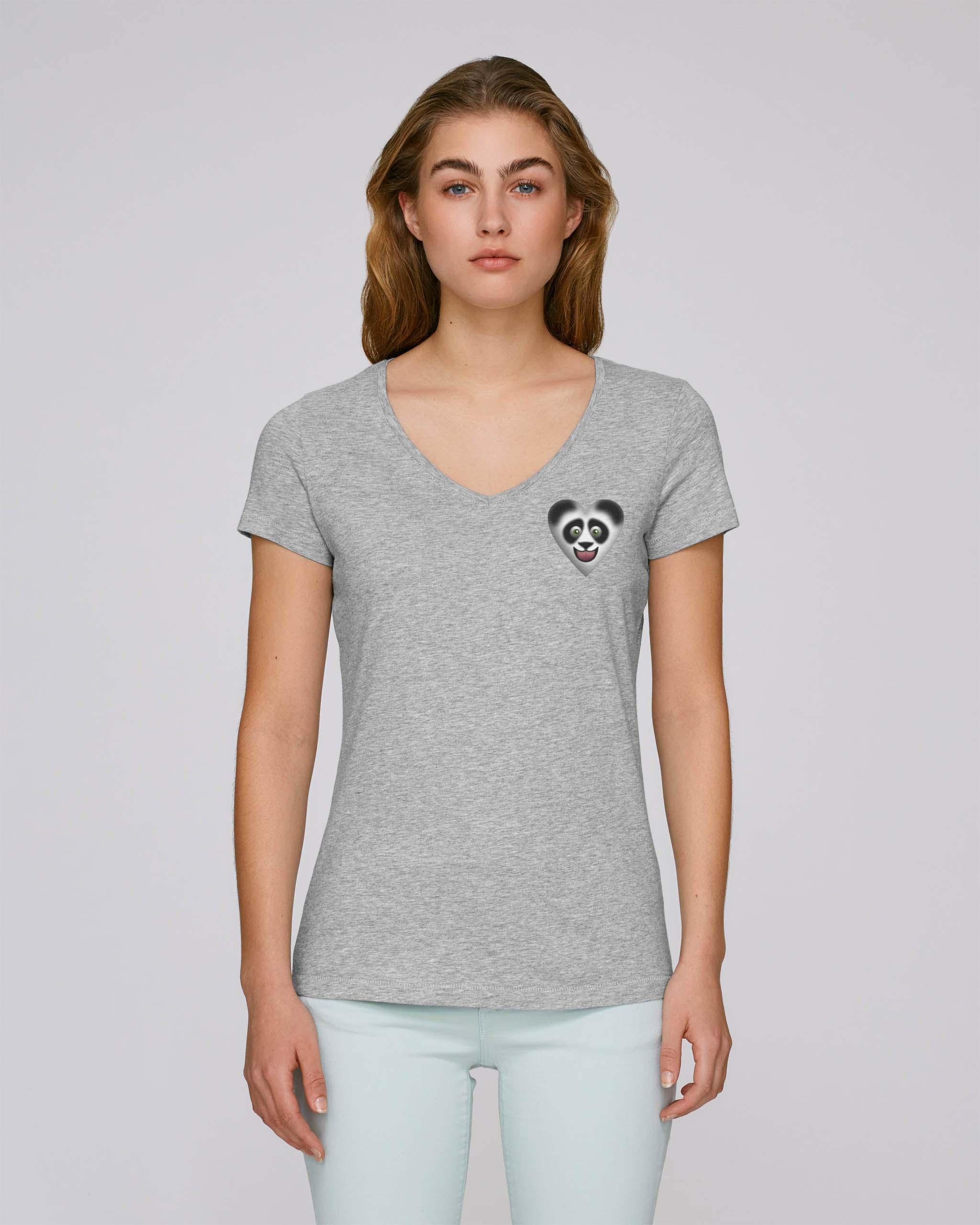 T-Shirt Bio gris clair Femme – Panda tee