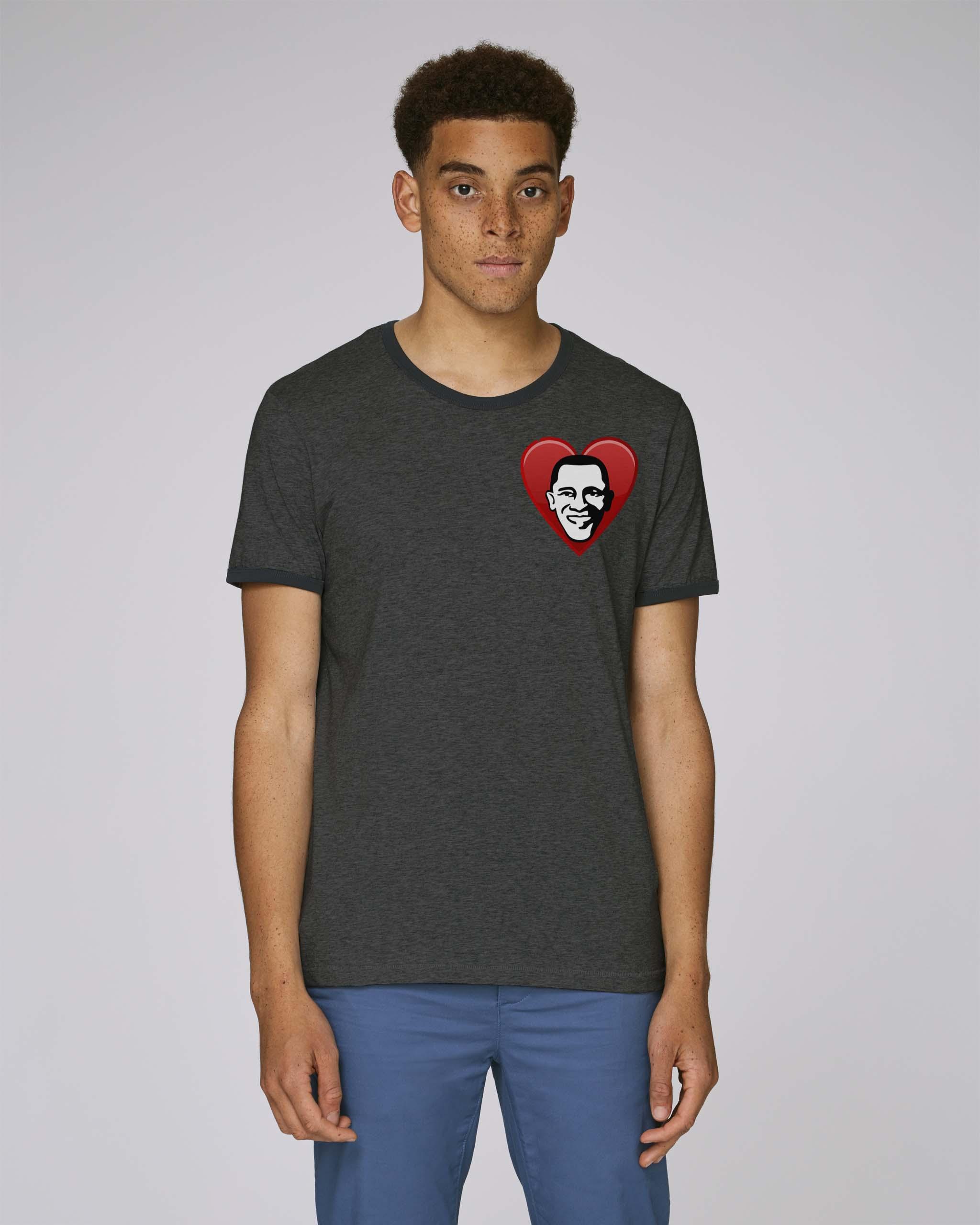 T-Shirt Bio gris foncé Homme - Obama tee