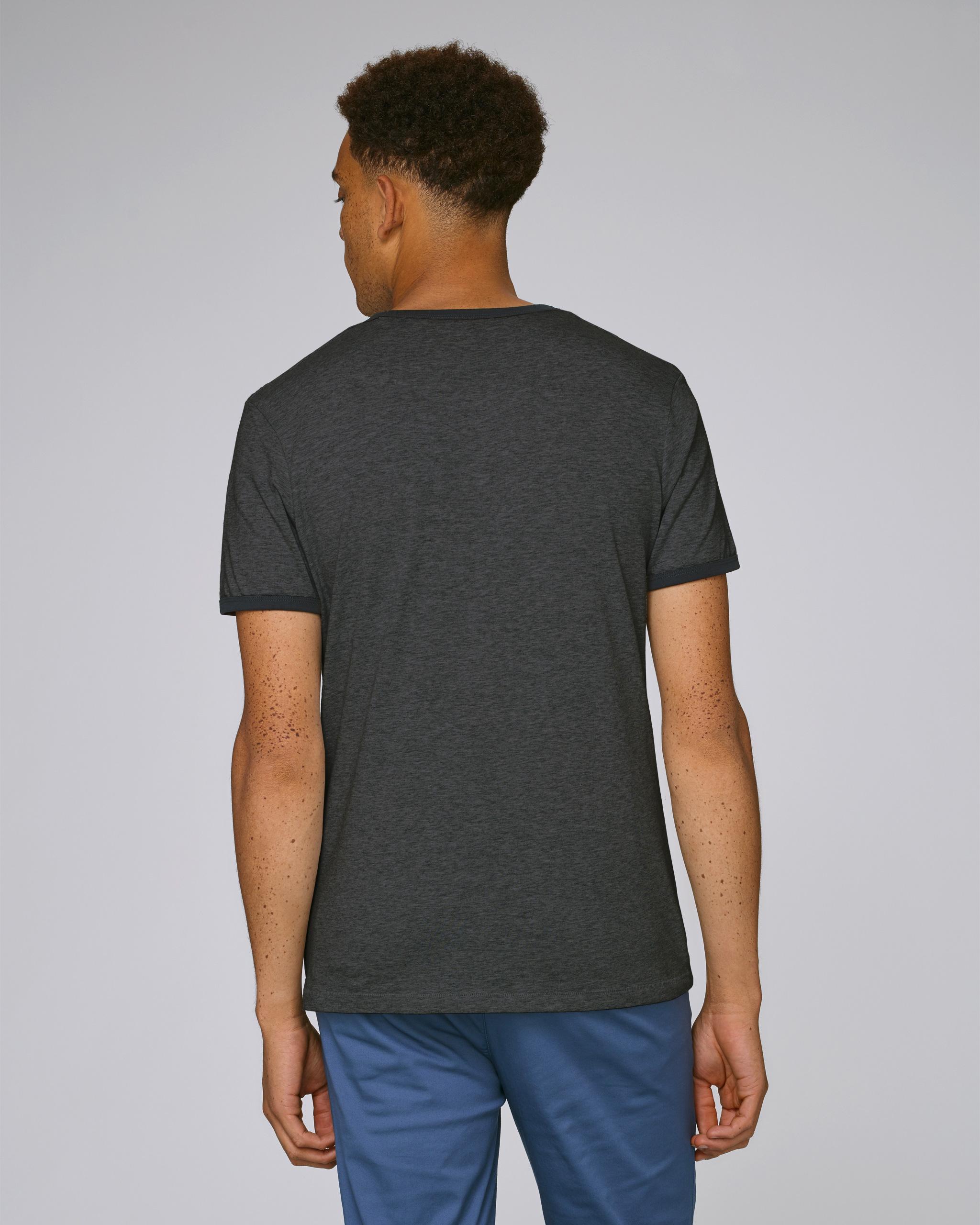 T-Shirt Bio gris foncé Homme dos - Obama tee