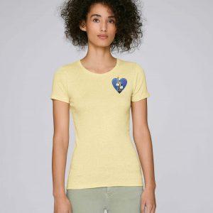 T-Shirt Bio jaune Femme – New york tee