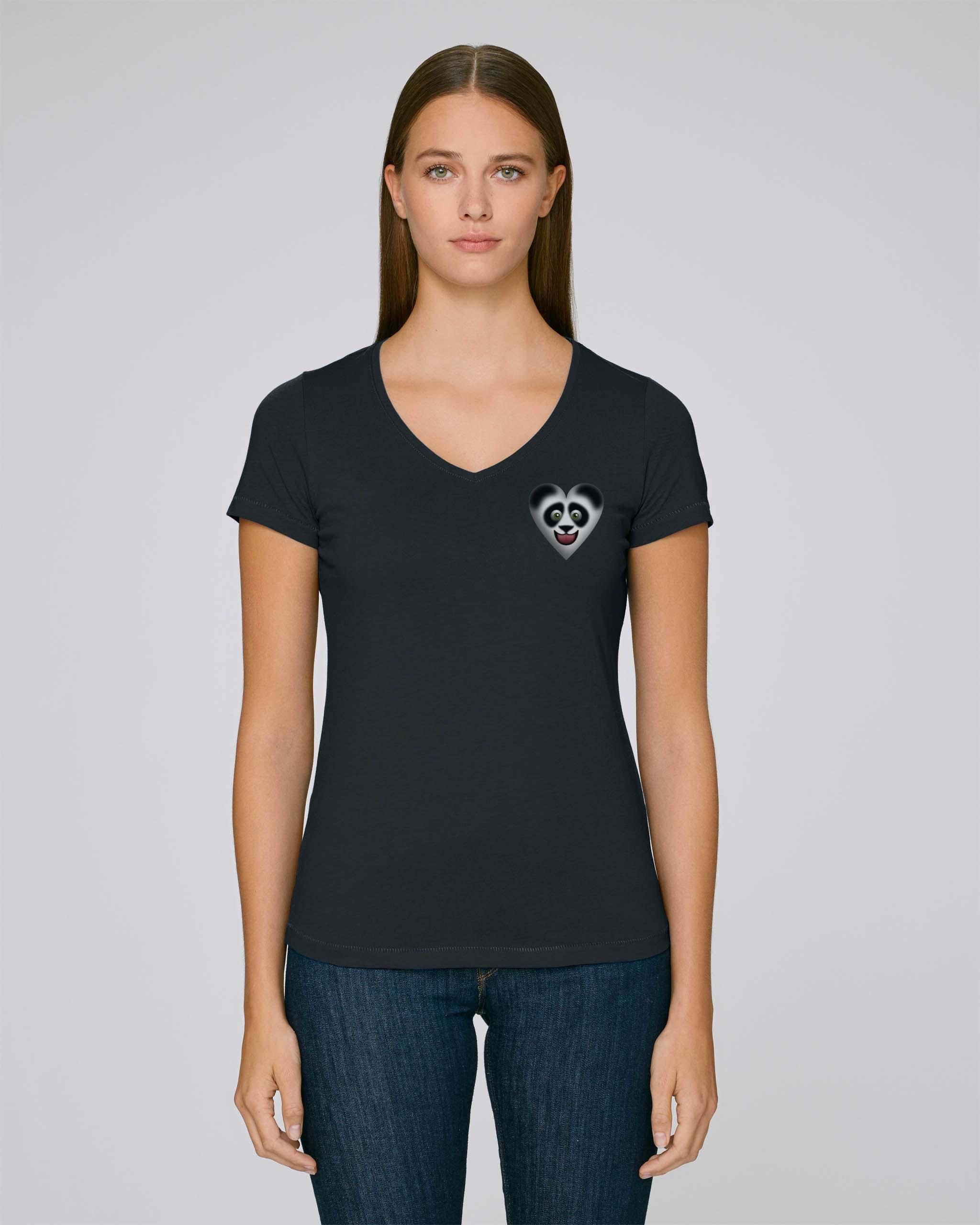 T-Shirt Bio noir 2 Femme – Panda tee
