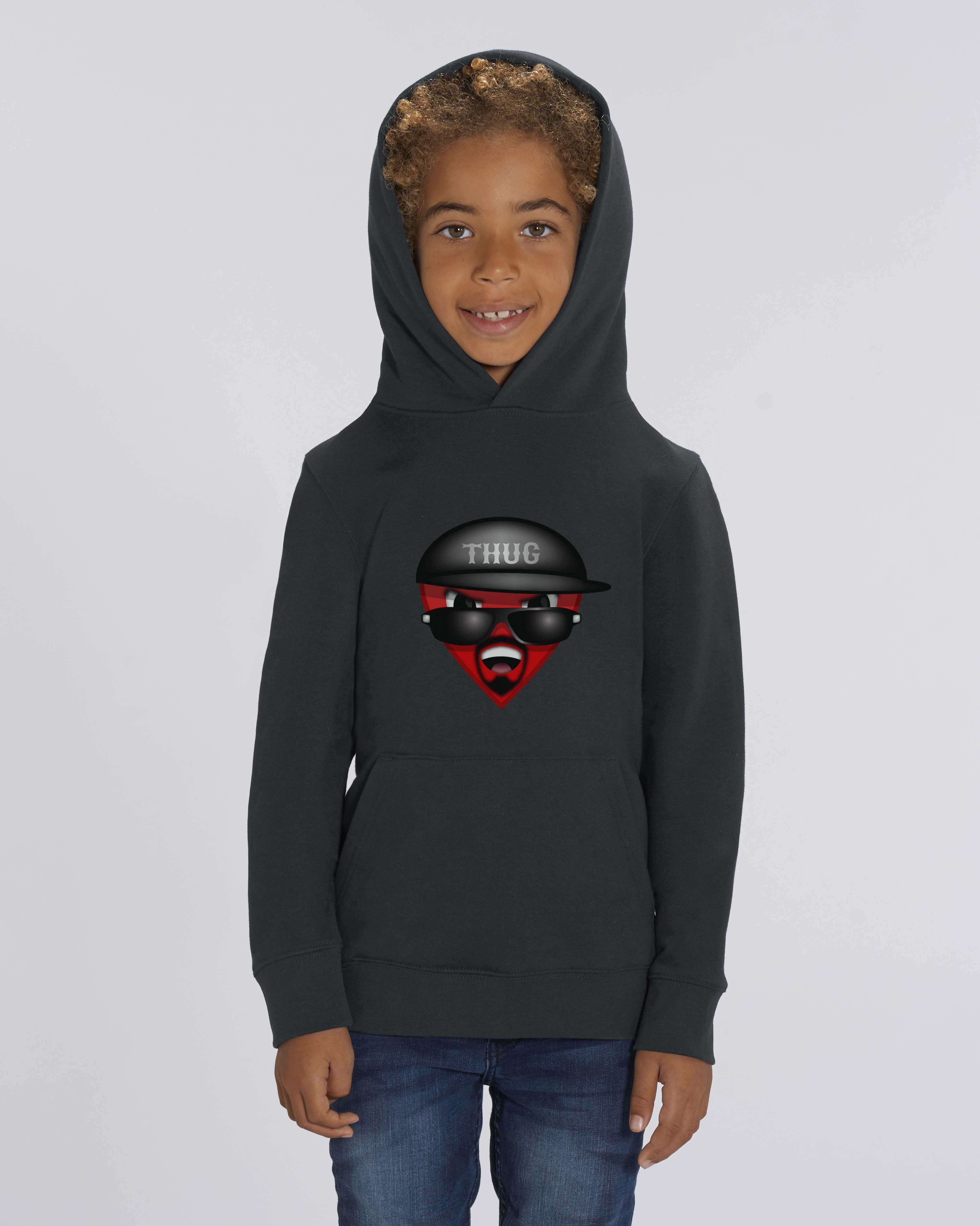 Organic black t-shirt for kids - Thuglife tee