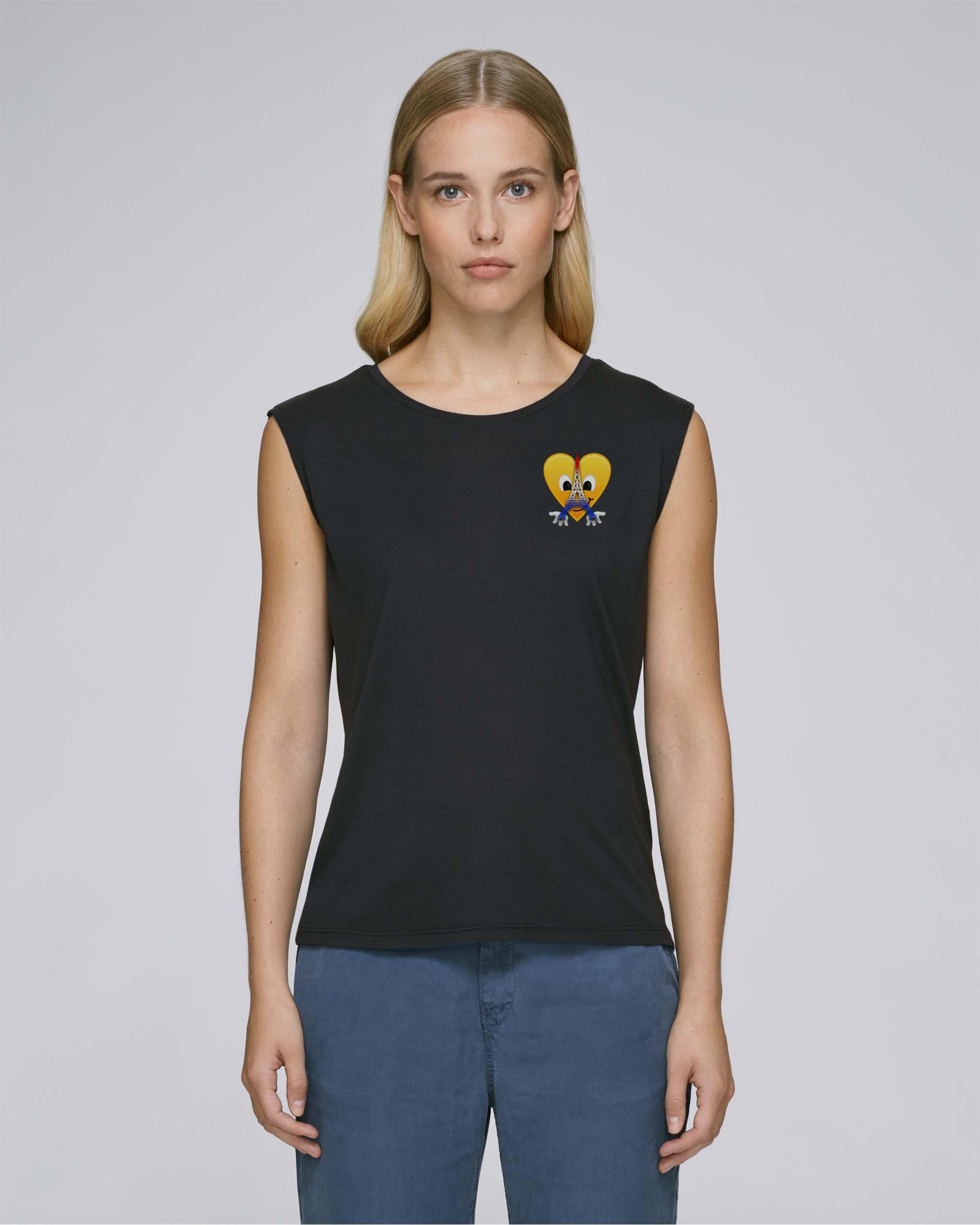 T-Shirt Bio noir Femme – Eiffel tee