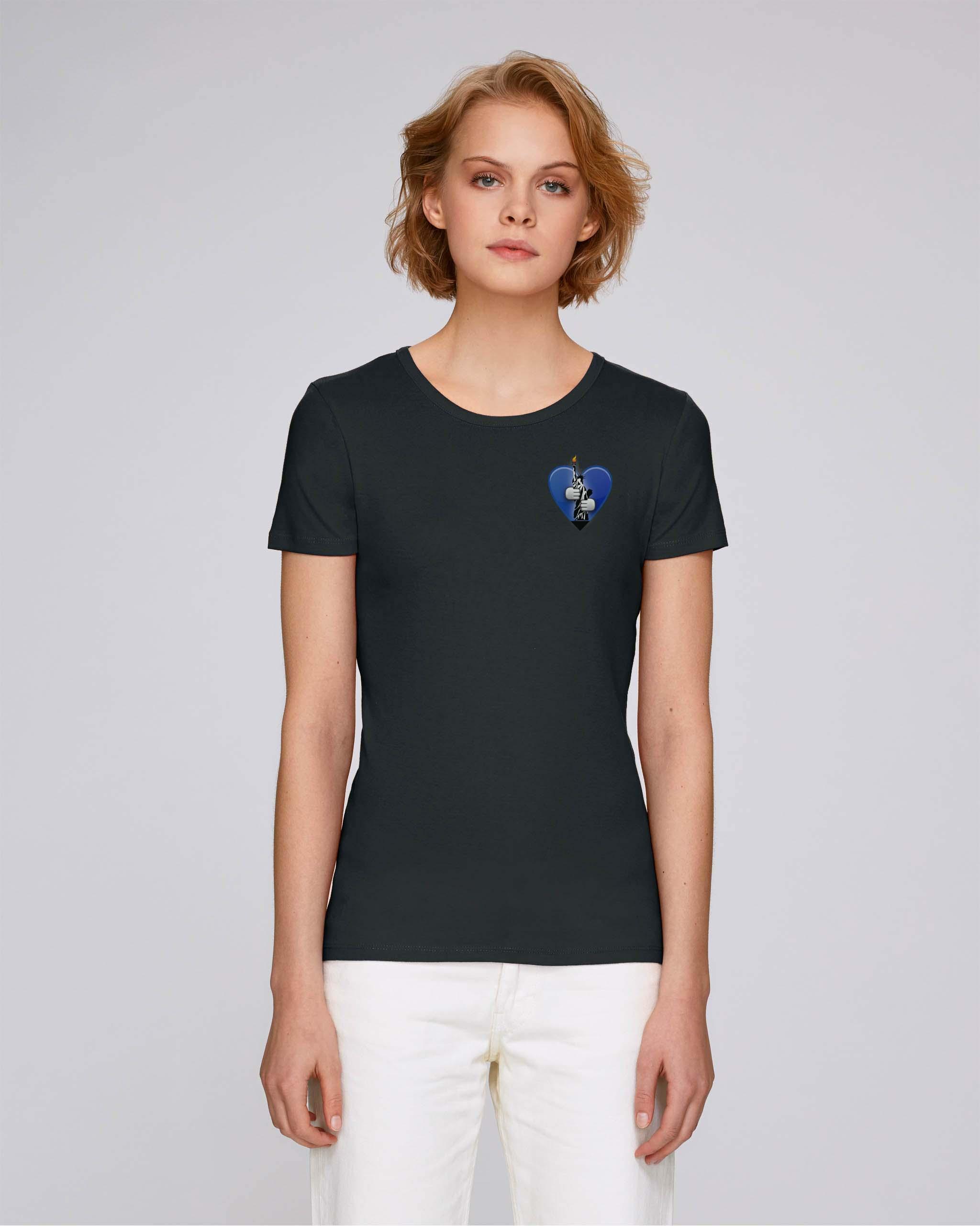 T-Shirt Bio noir Femme – New york tee