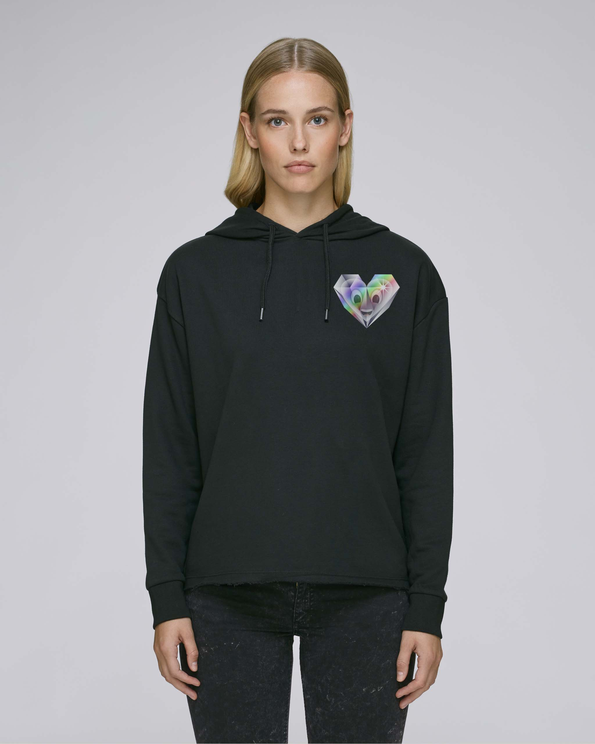 Sweat-Shirt Bio noir Femme - Diamond sweat