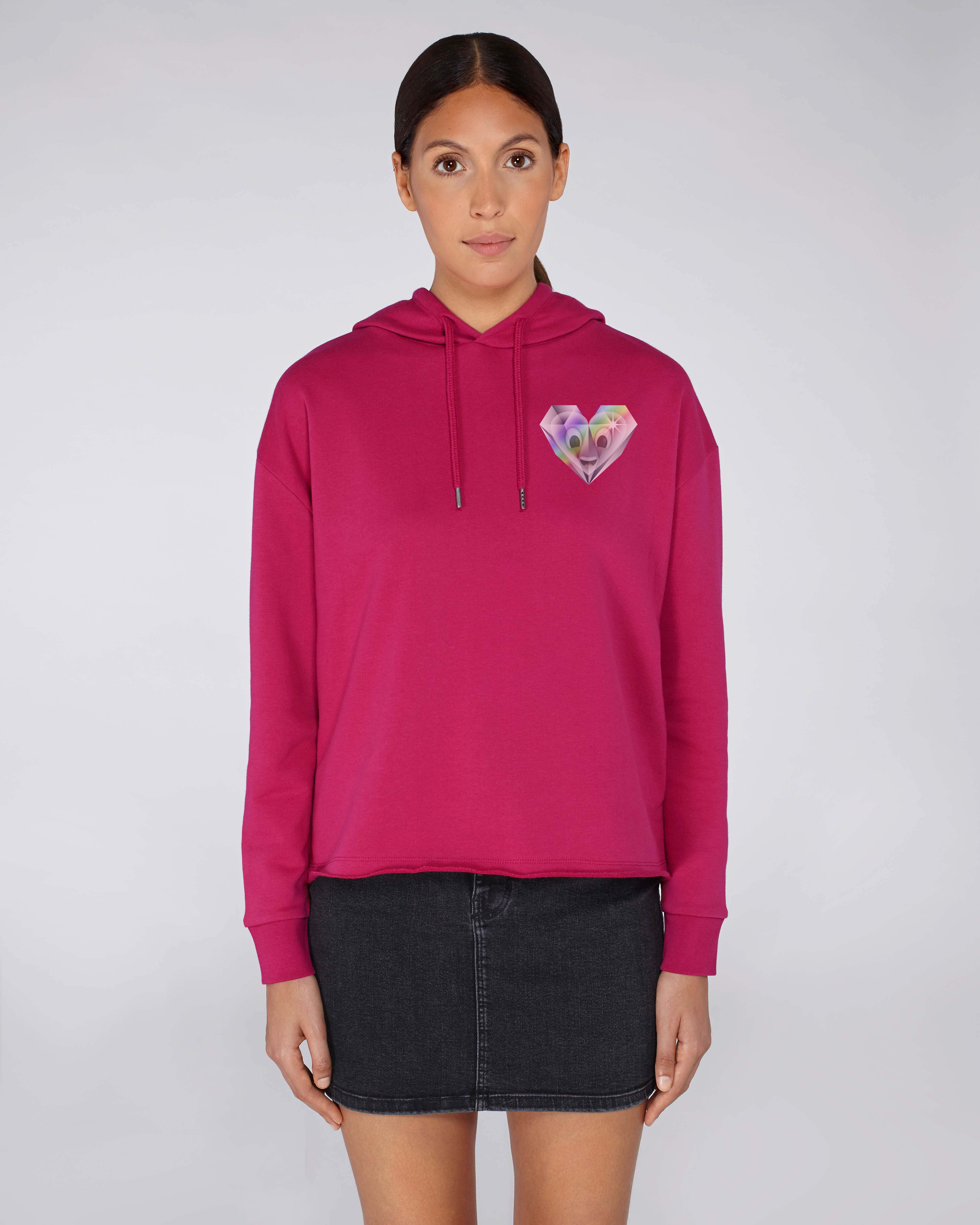 Sweat-Shirt Bio rose Femme - Diamond sweat