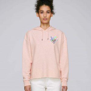 Sweat-Shirt Bio rose coton Femme - Diamond sweat
