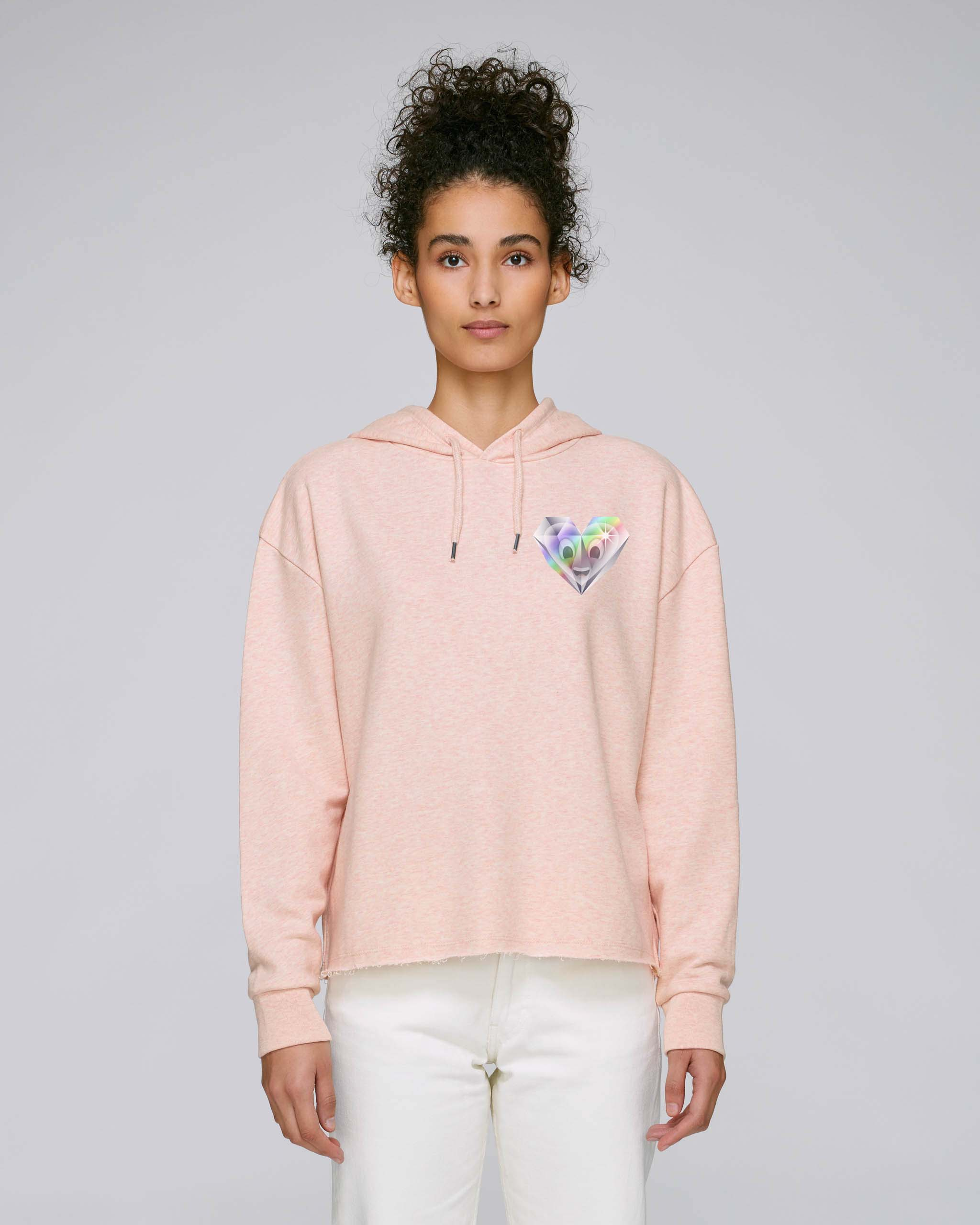 Sweat-Shirt Bio rose coton Femme - Diamond sweat