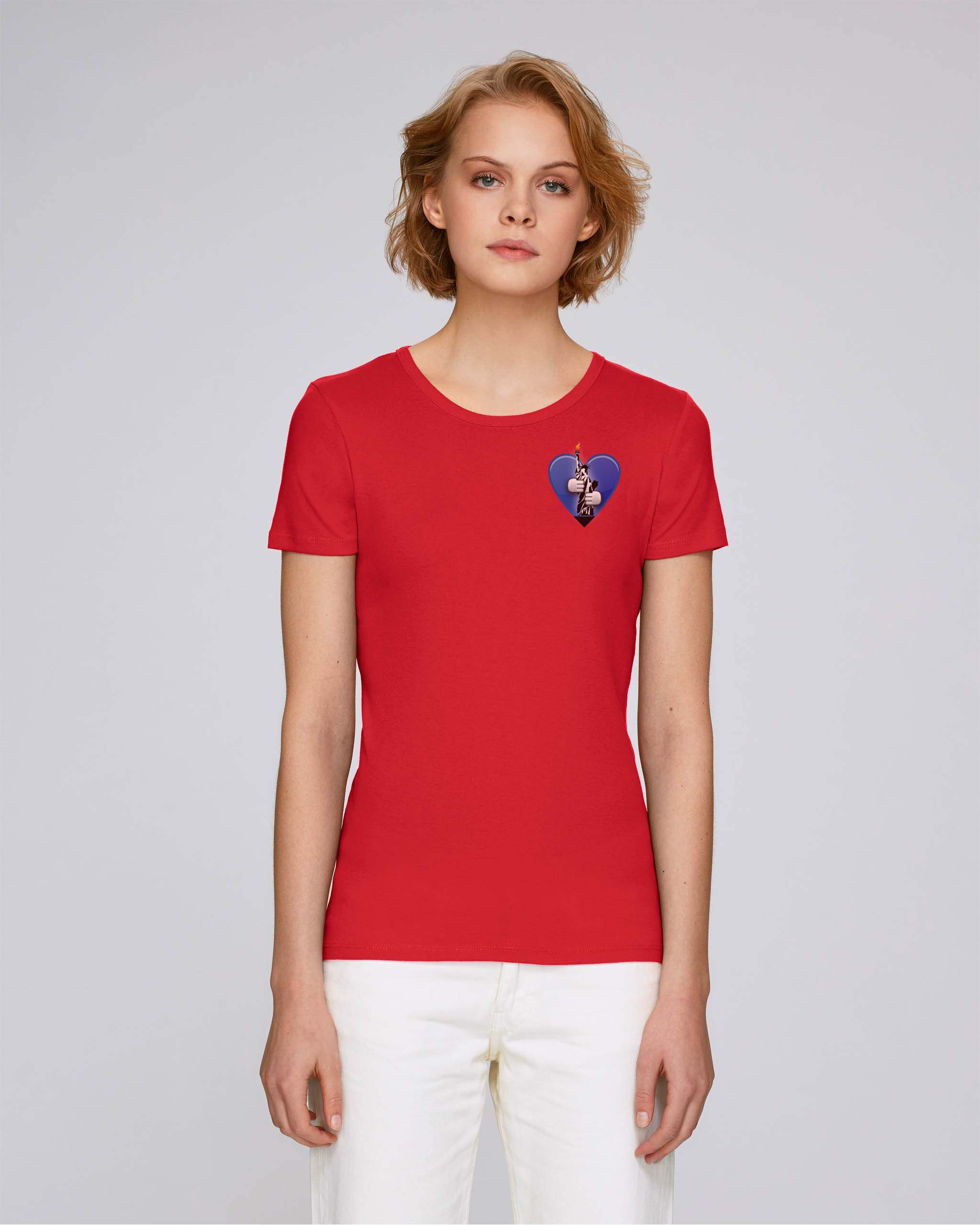 T-Shirt Bio rouge Femme – New york tee