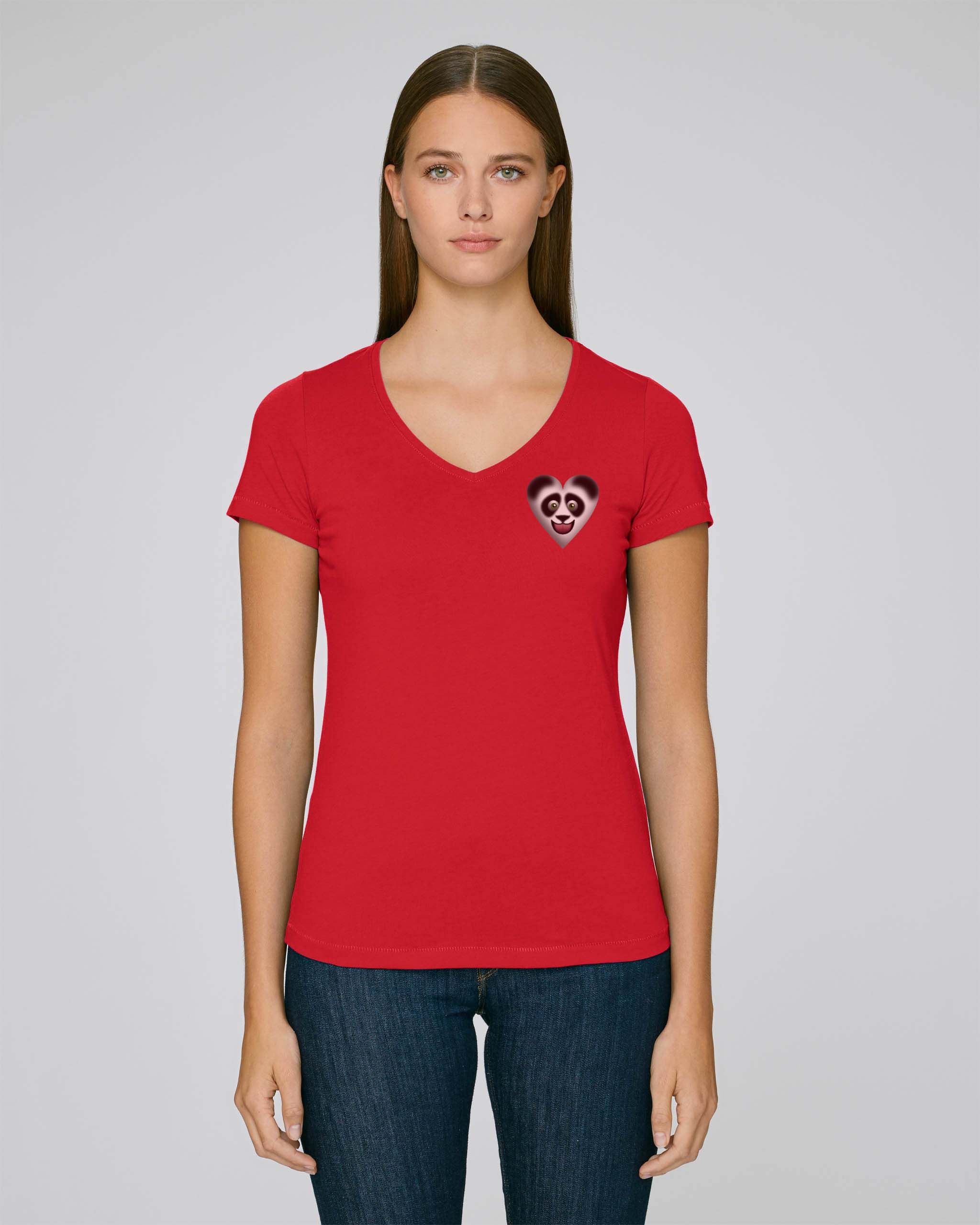 T-Shirt Bio rouge Femme – Panda tee