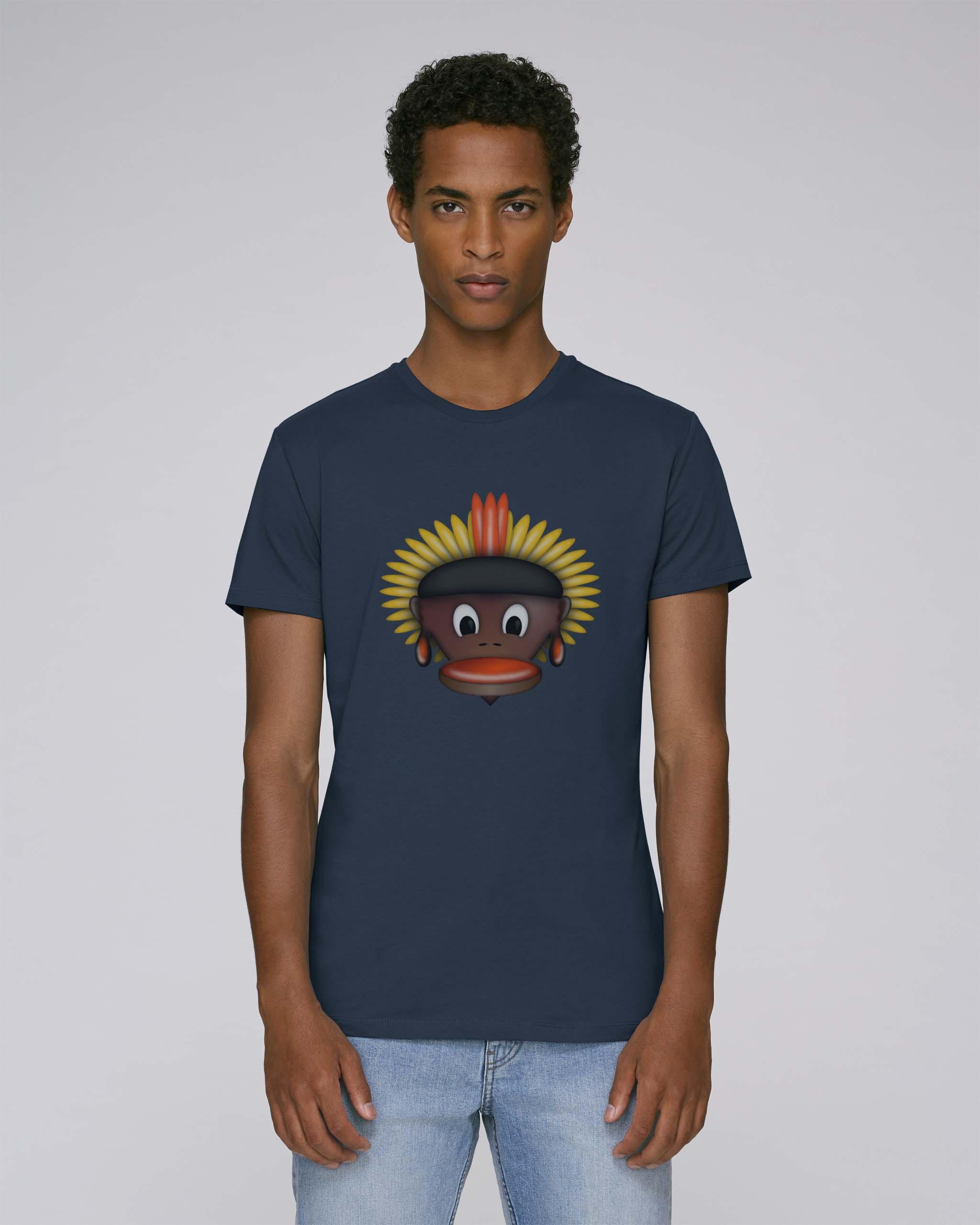 T-Shirt bleu/gris Bio Homme - Tribe tee