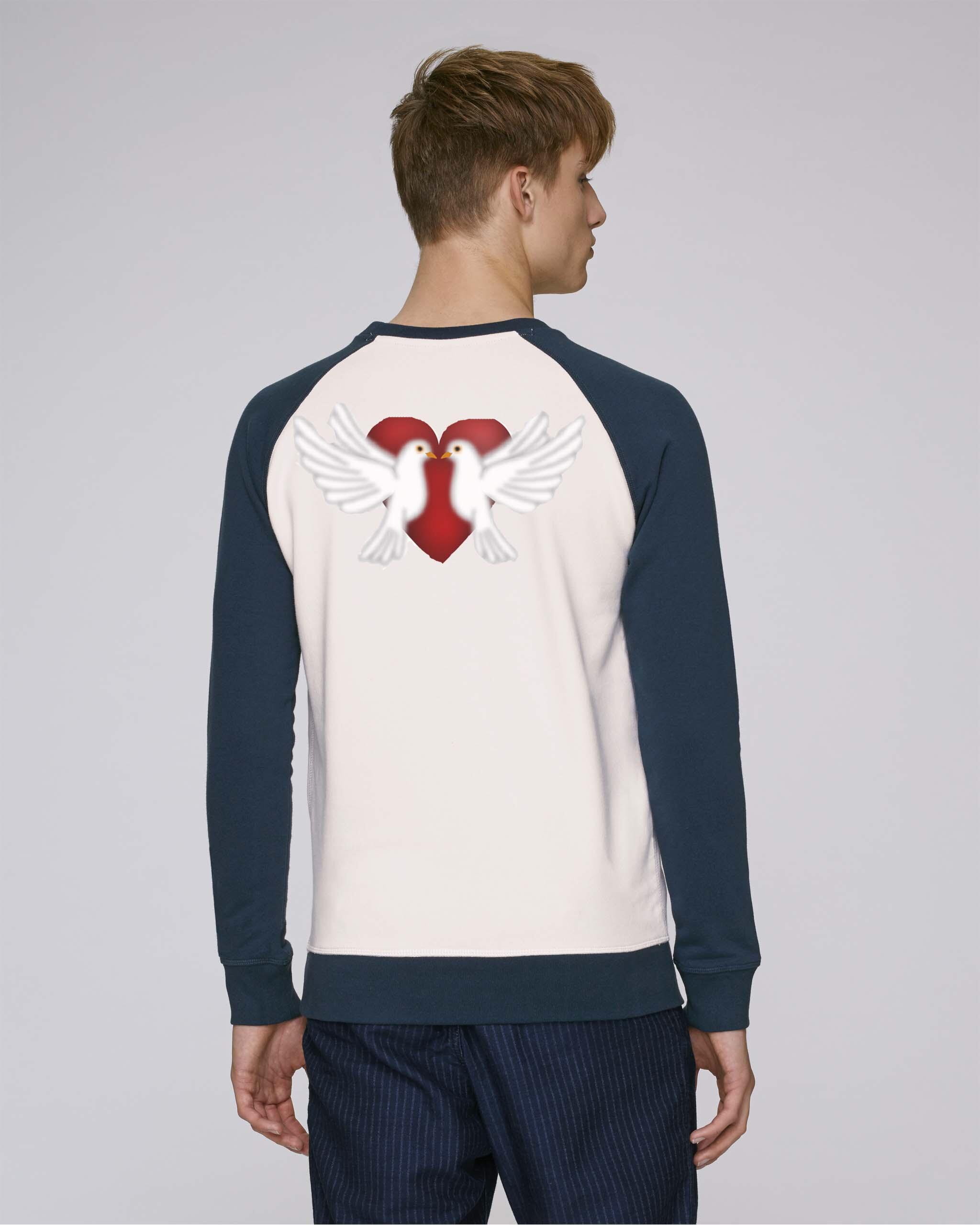 T-Shirt Bio Homme manche longue bleu - peace tee