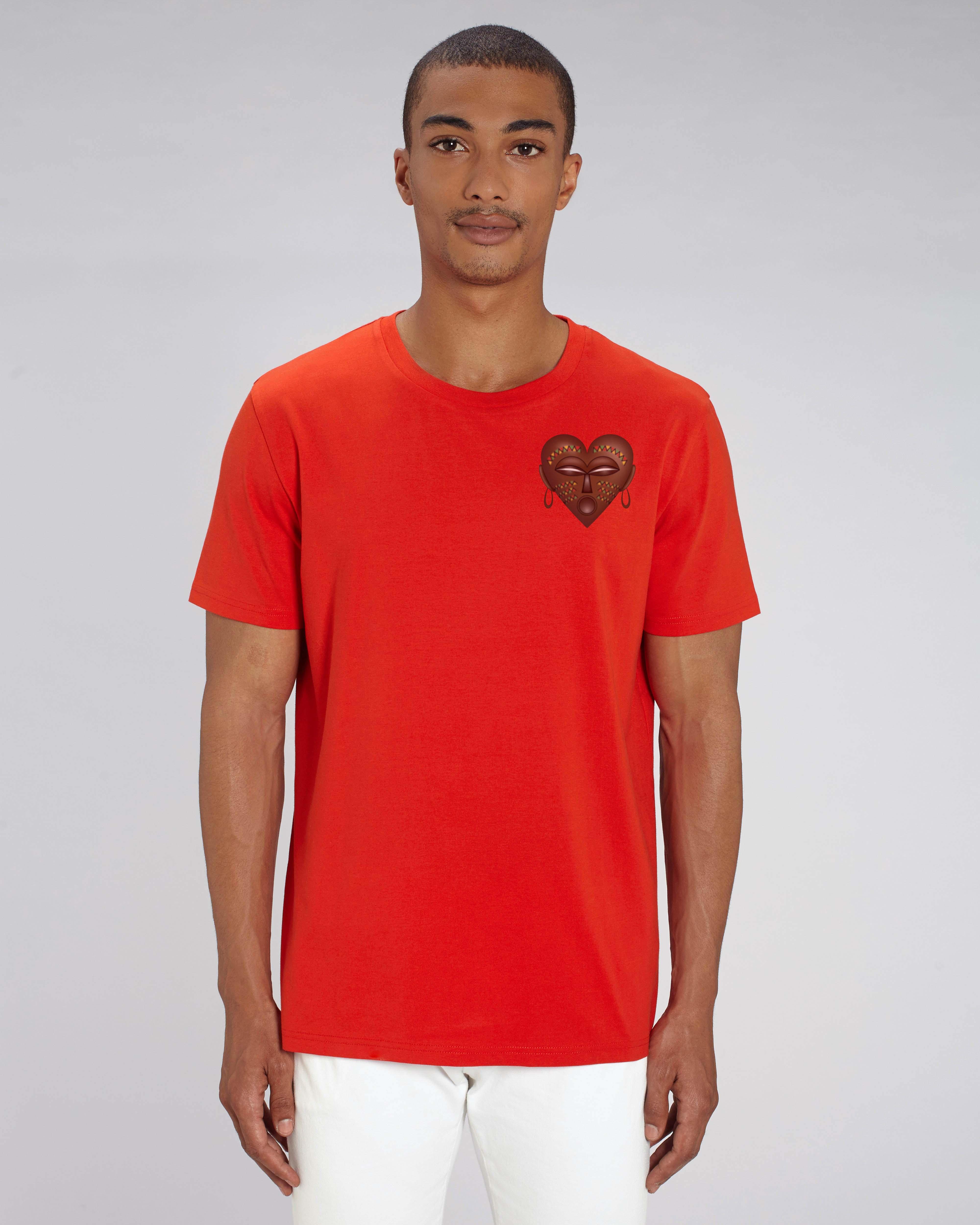 T-shirt orange Bio Homme - African Tee