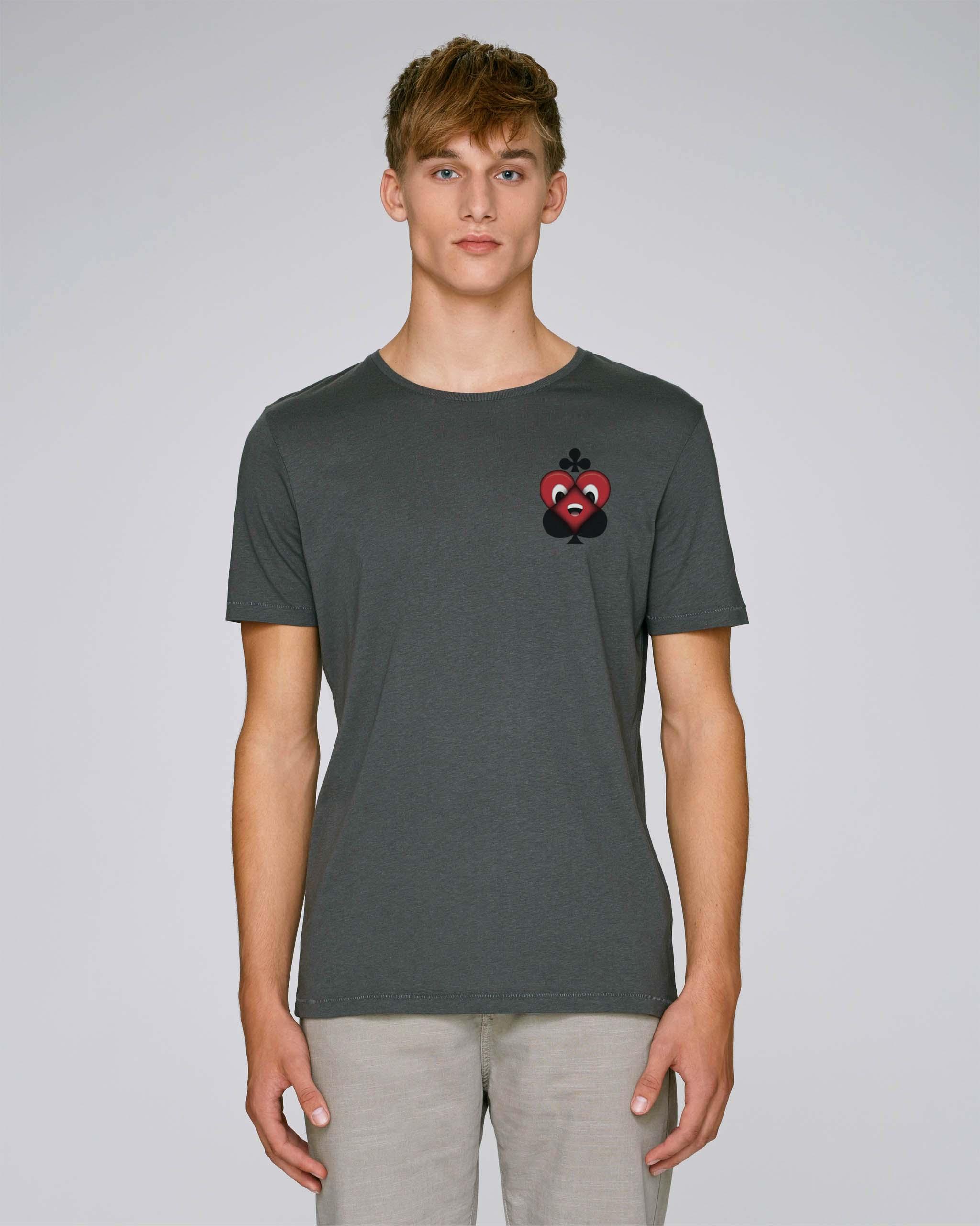 T-Shirt Gris foncé Bio Homme - Chance tee