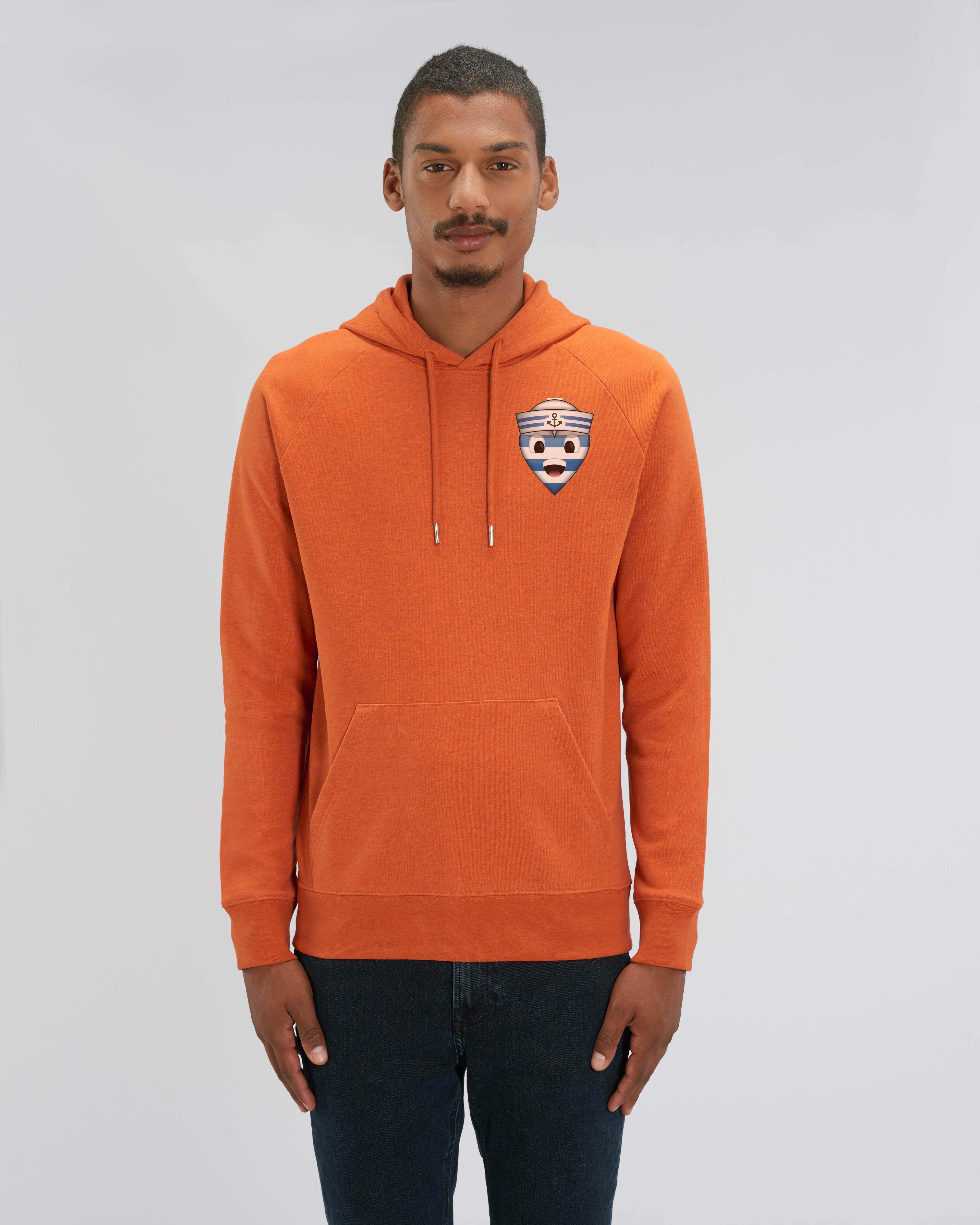 Sweat shirt à Capuche orange homme - navy hoodie