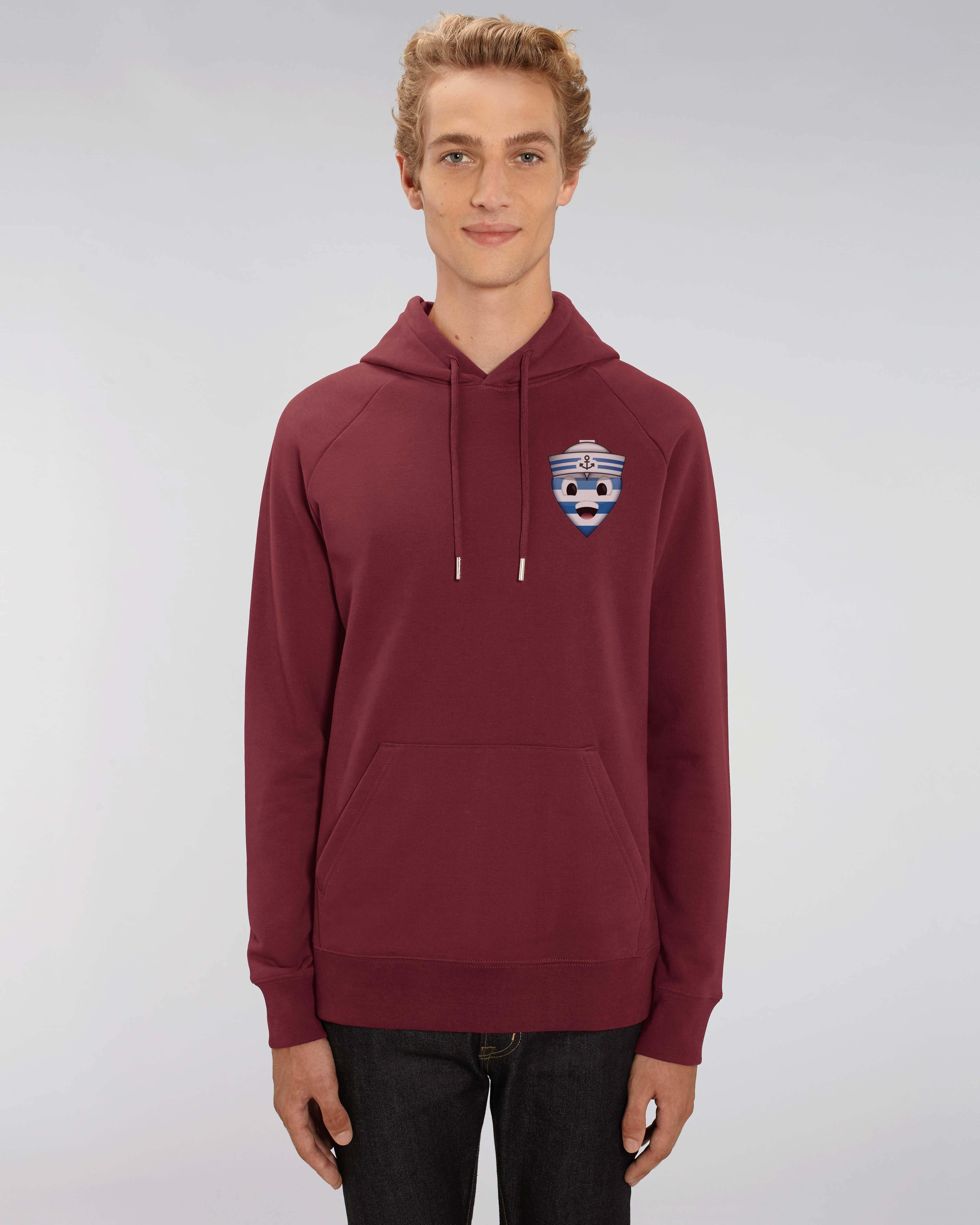 Sweat shirt à Capuche bordeaux homme - navy hoodie