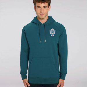 Sweat shirt à Capuche vert homme - navy hoodie