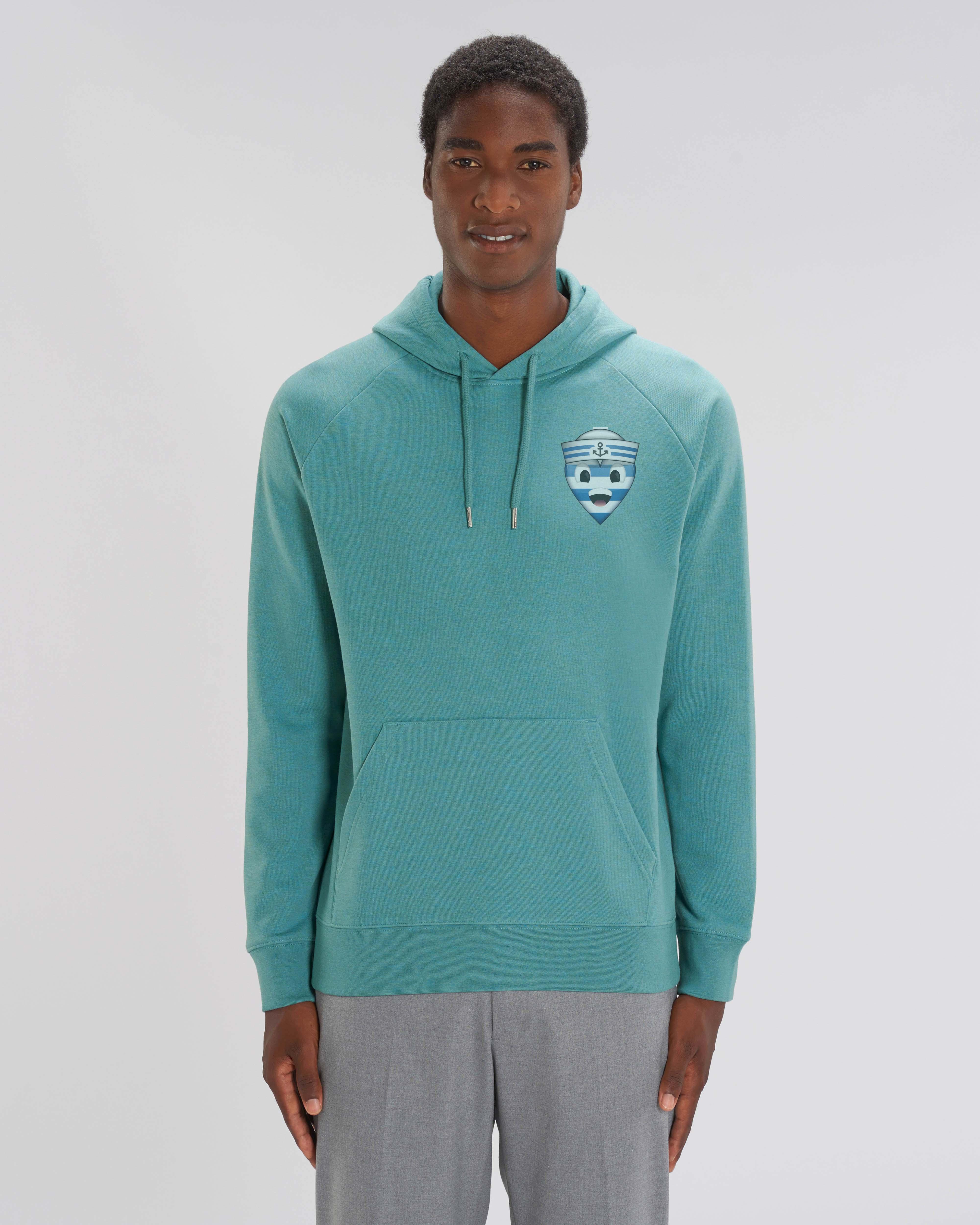 Sweat shirt à Capuche vert/bleu homme - navy hoodie