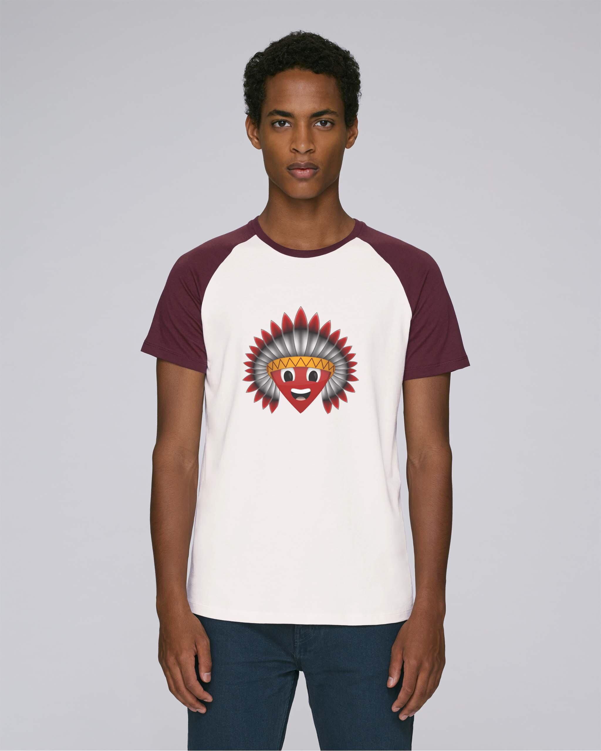 t-shirt bio bordeaux homme - Navajos Baseball tee