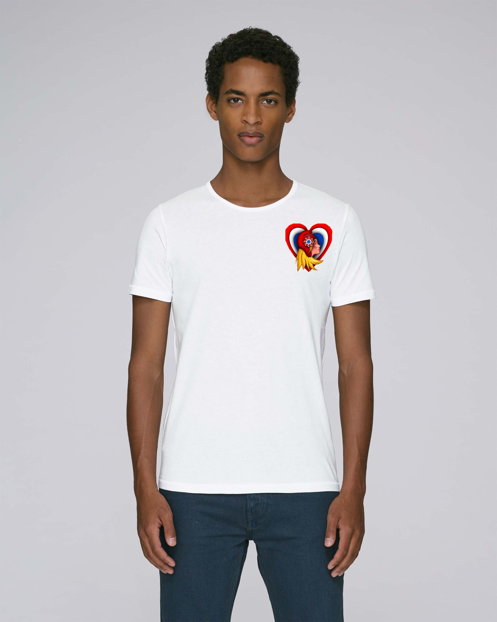 t-shirt blanc homme - French love tee