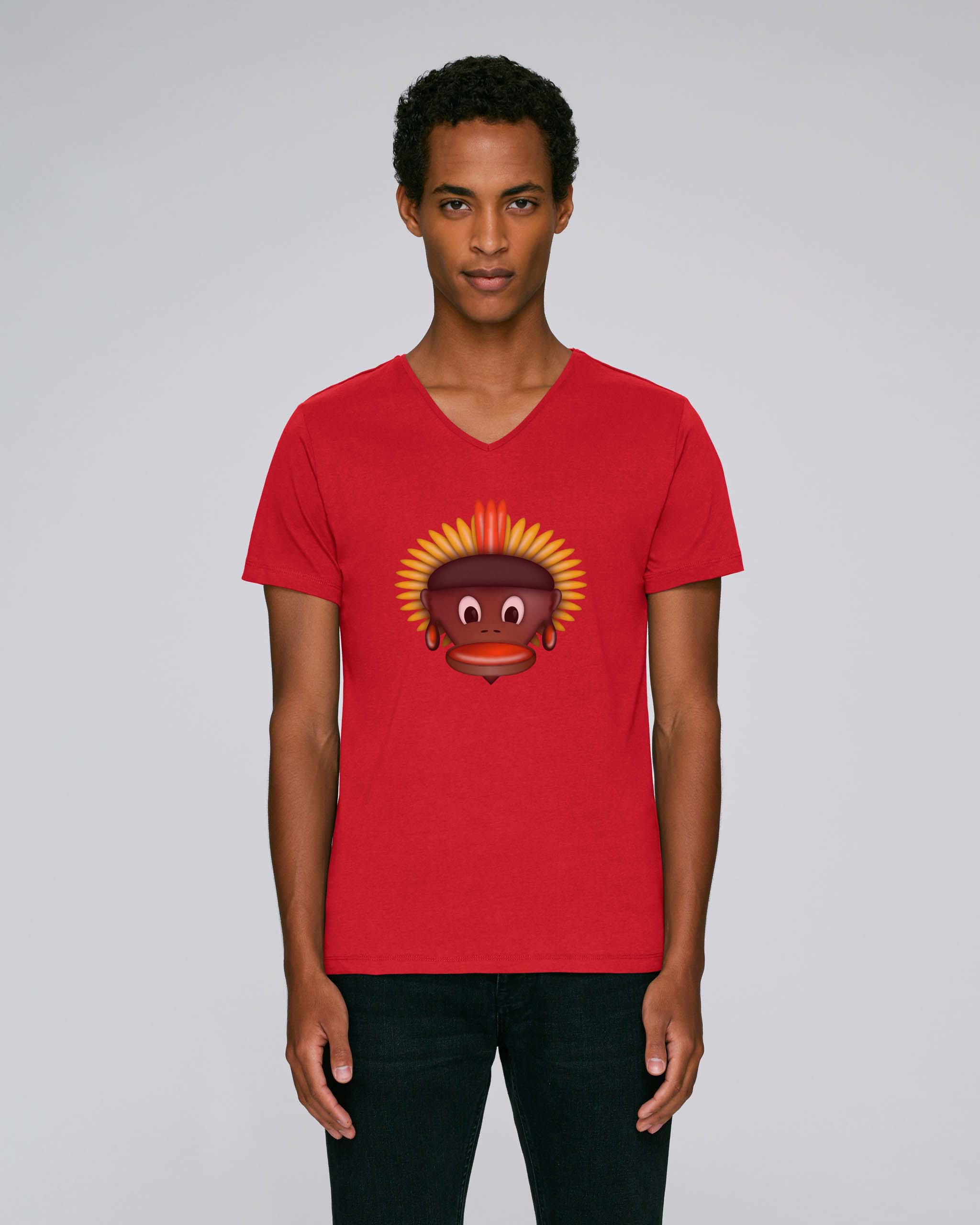 T-Shirt Rouge Bio Homme - Tribe tee