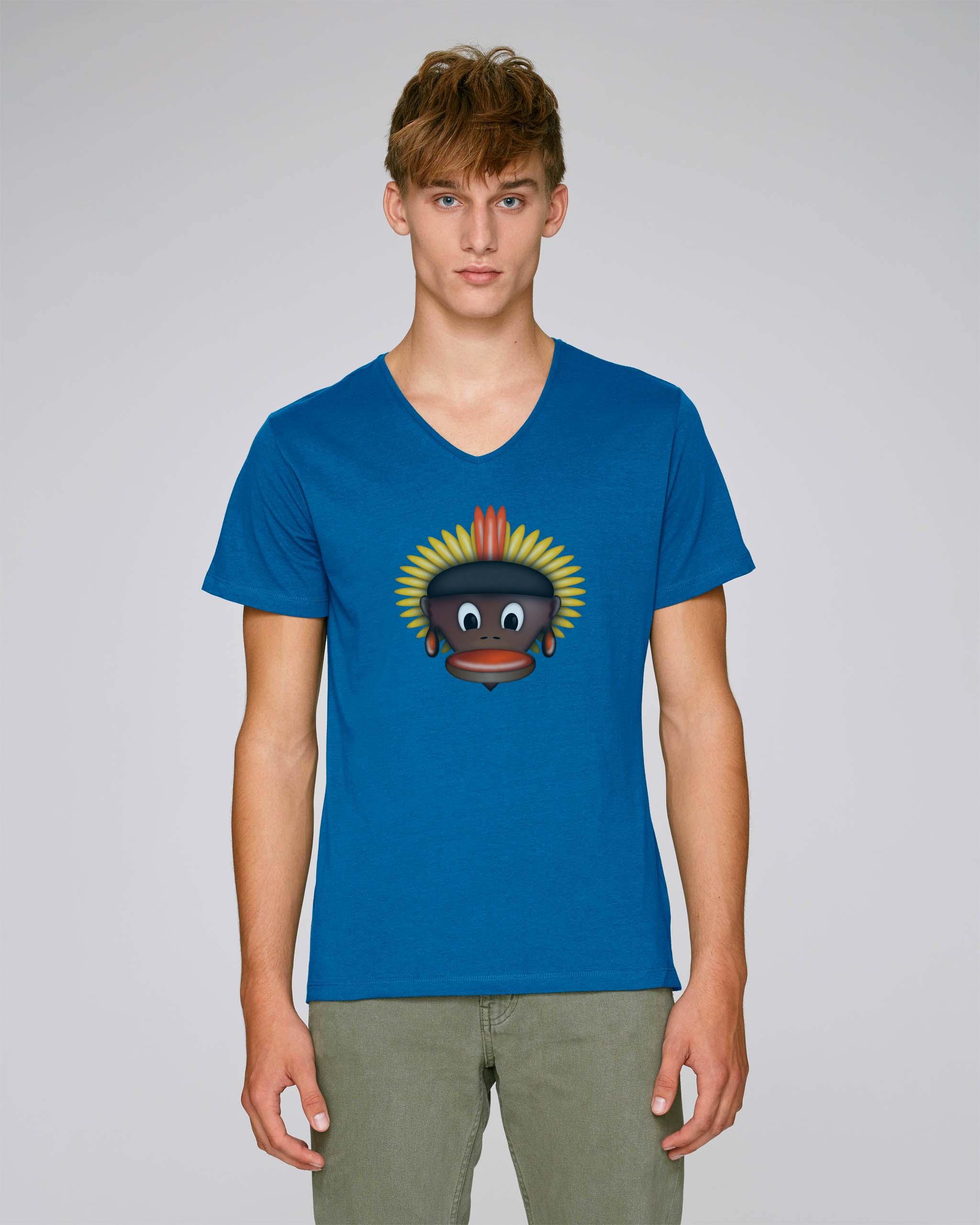 T-Shirt Bleu Bio Homme - Tribe tee