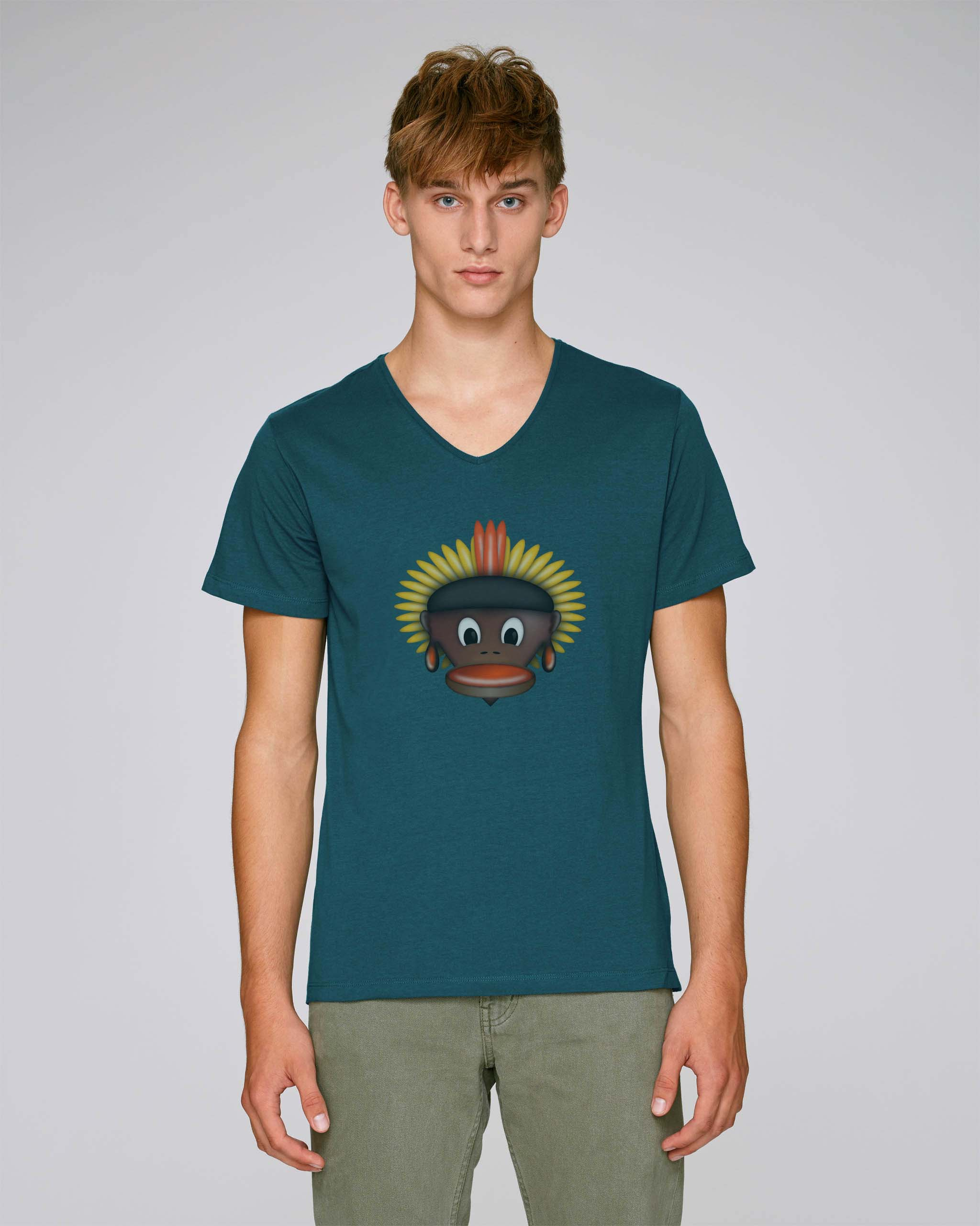 T-Shirt Vert Foncé Bio Homme - Tribe tee