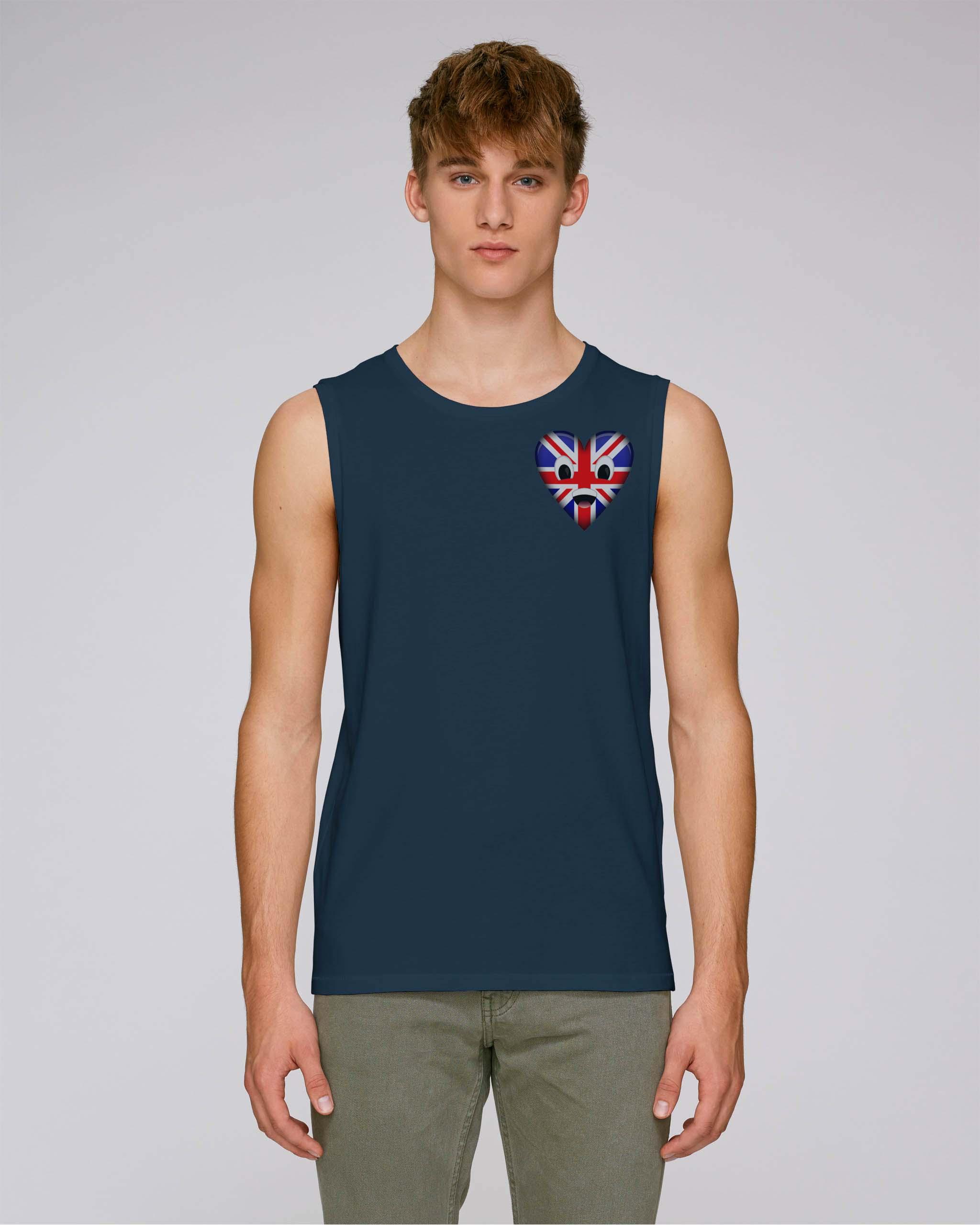 T-shirt bio bleu royal sombre manche courte homme - uk tee