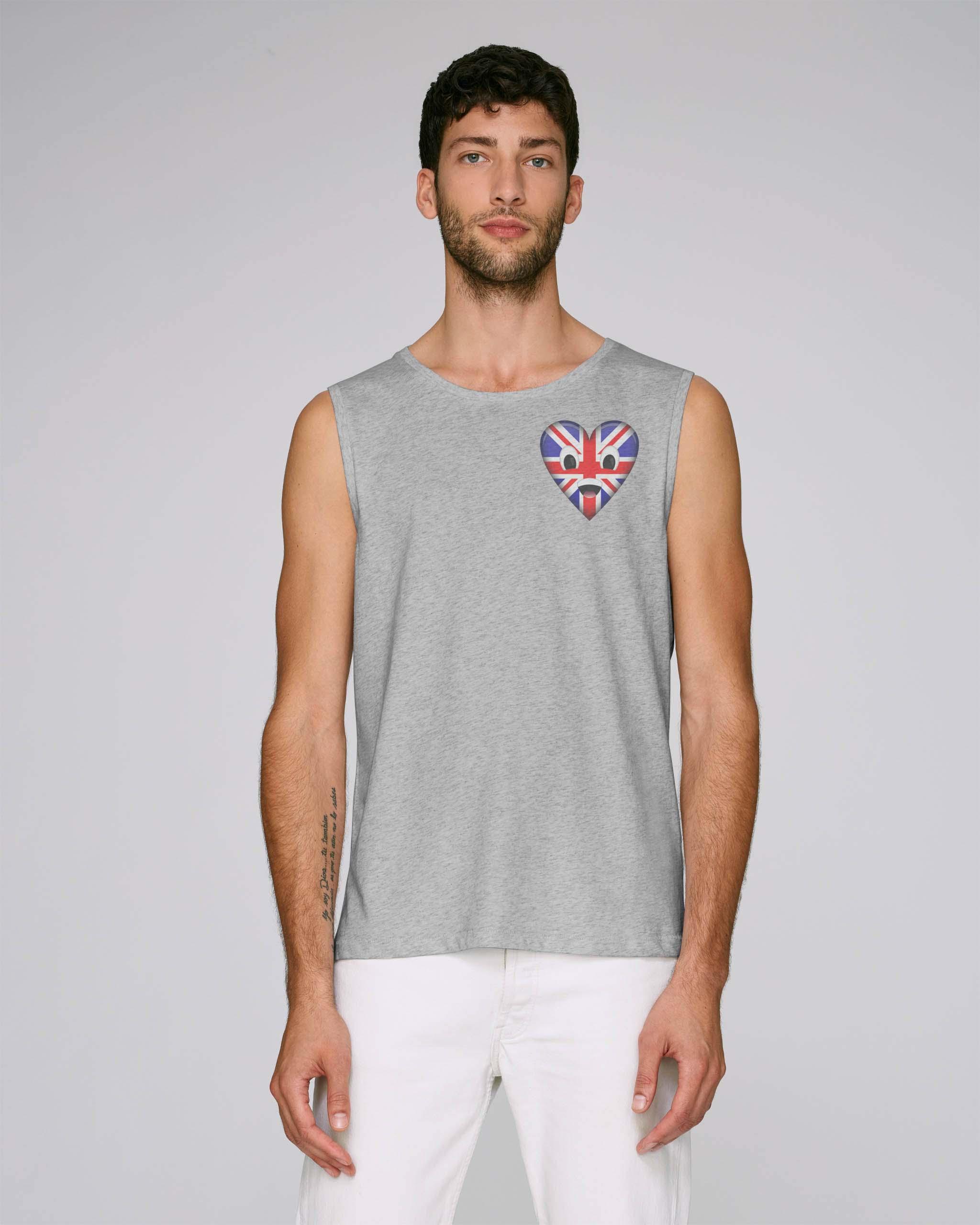 T-shirt bio gris chiné manche courte homme - uk tee